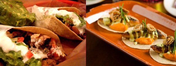 Tacos side by side