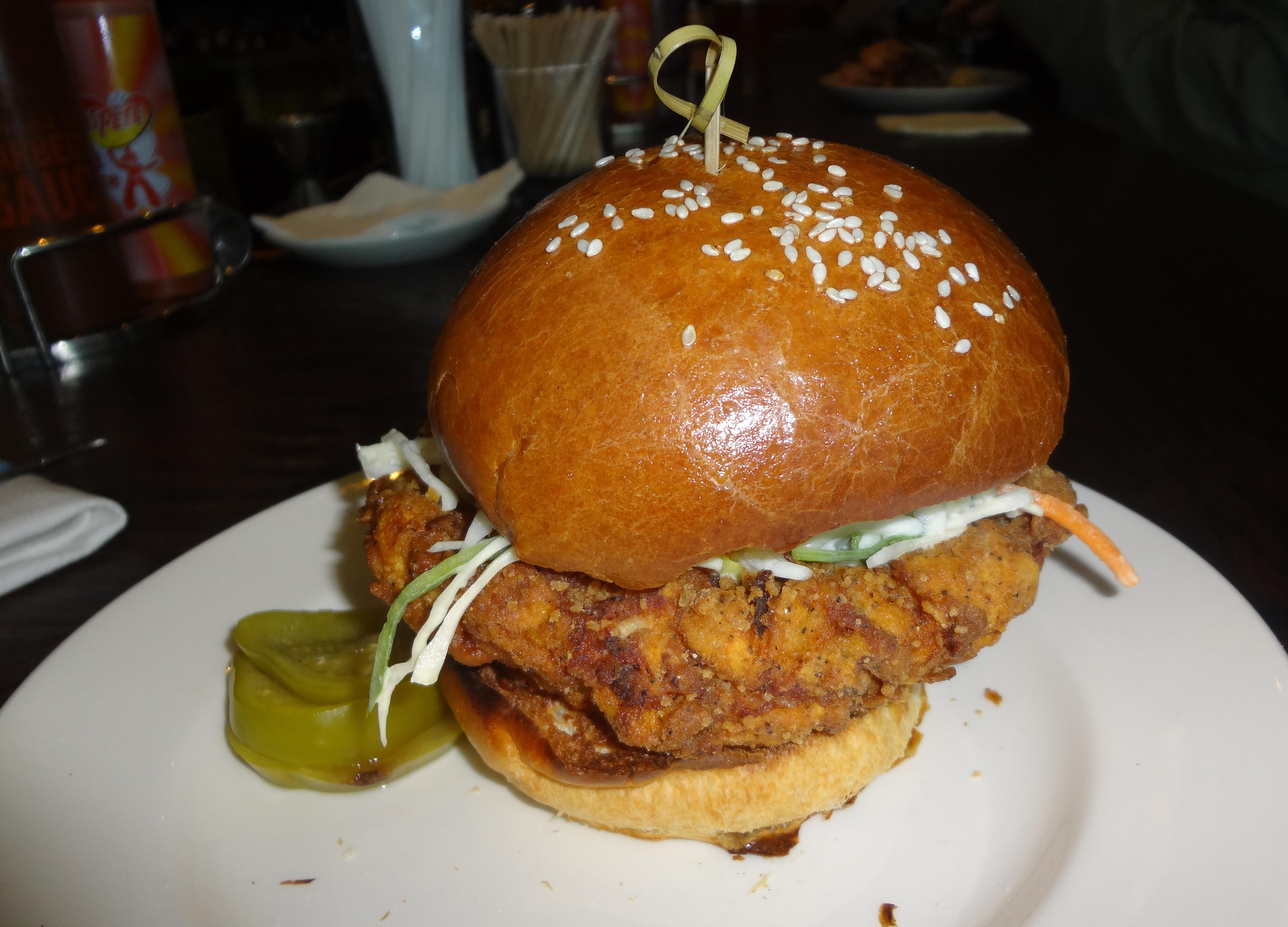Blue Smoke fried chicken sandwich