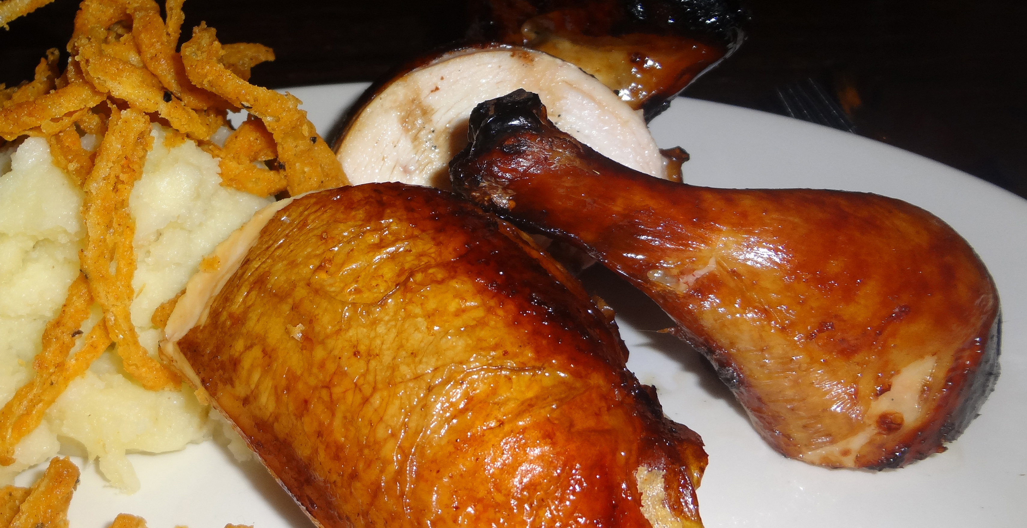 Grilled smoked chicken