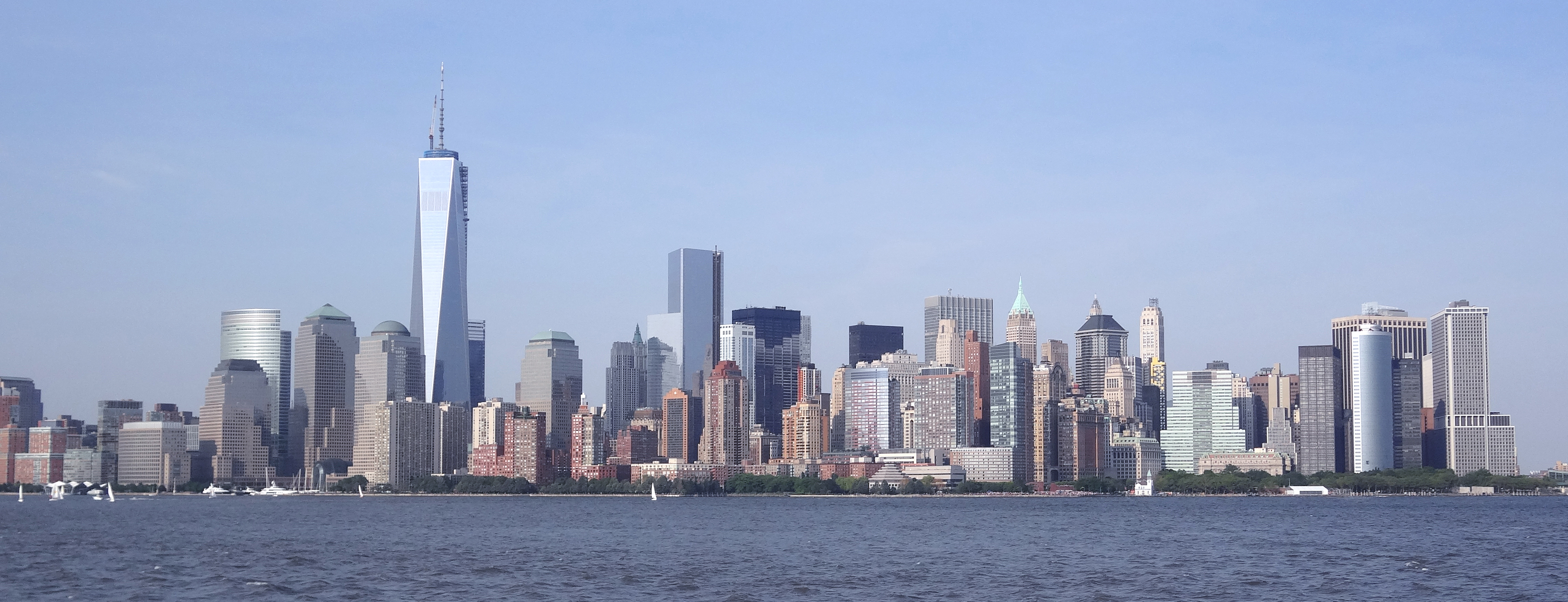 Lower Manhattan panorama bluer