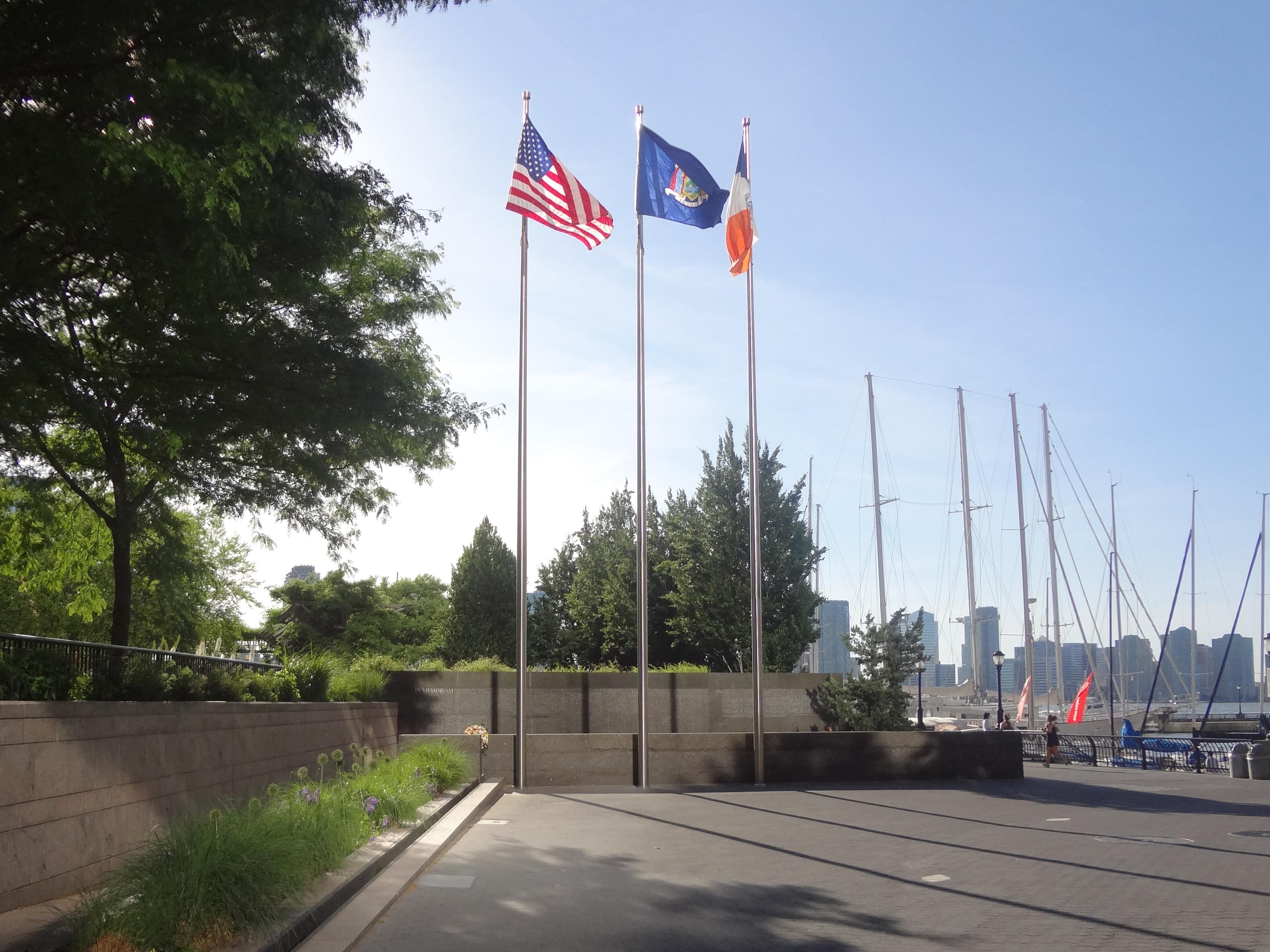 Police Memorial double shadows