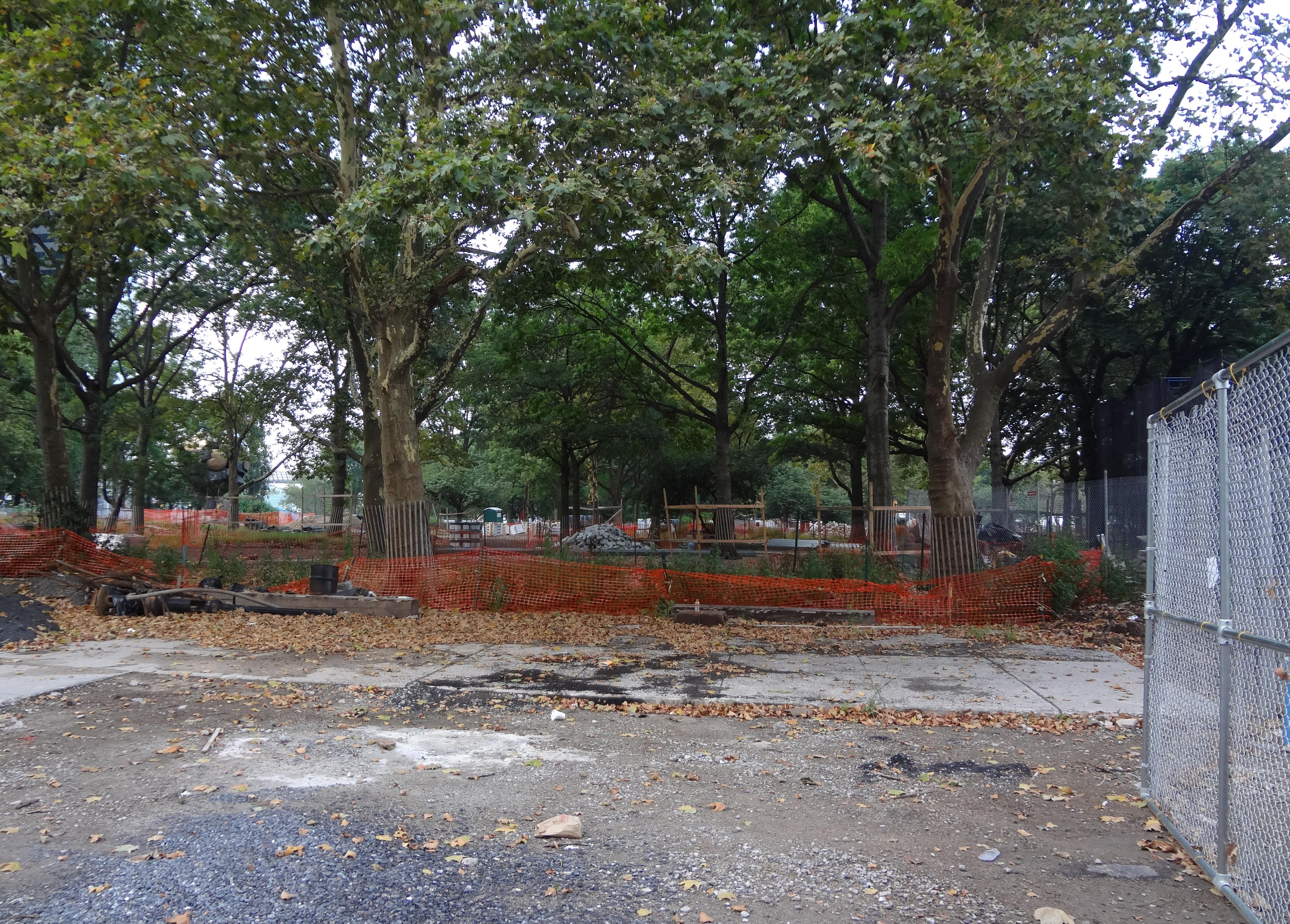 Batery Park construction