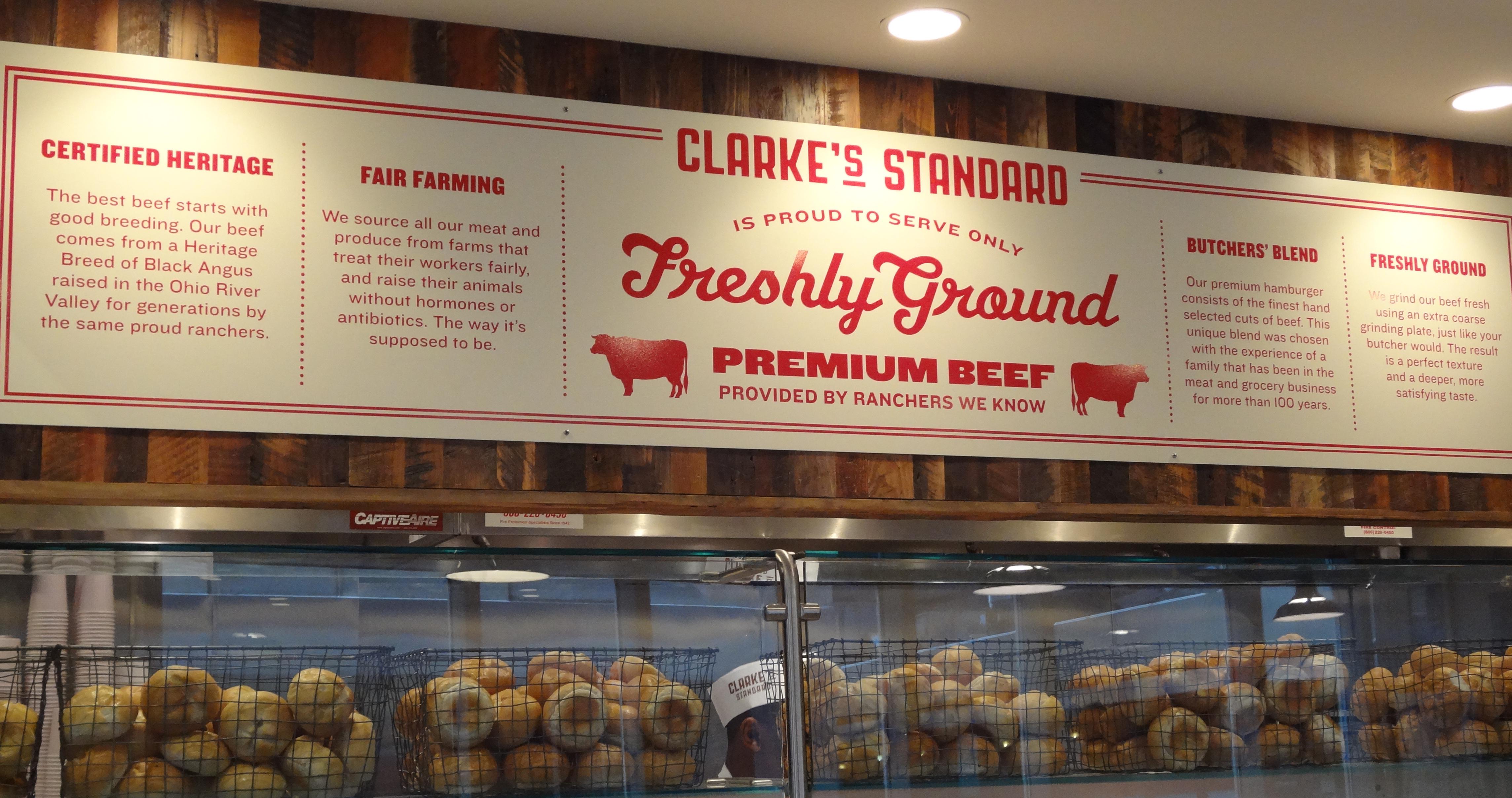 Clarkes better burger claims