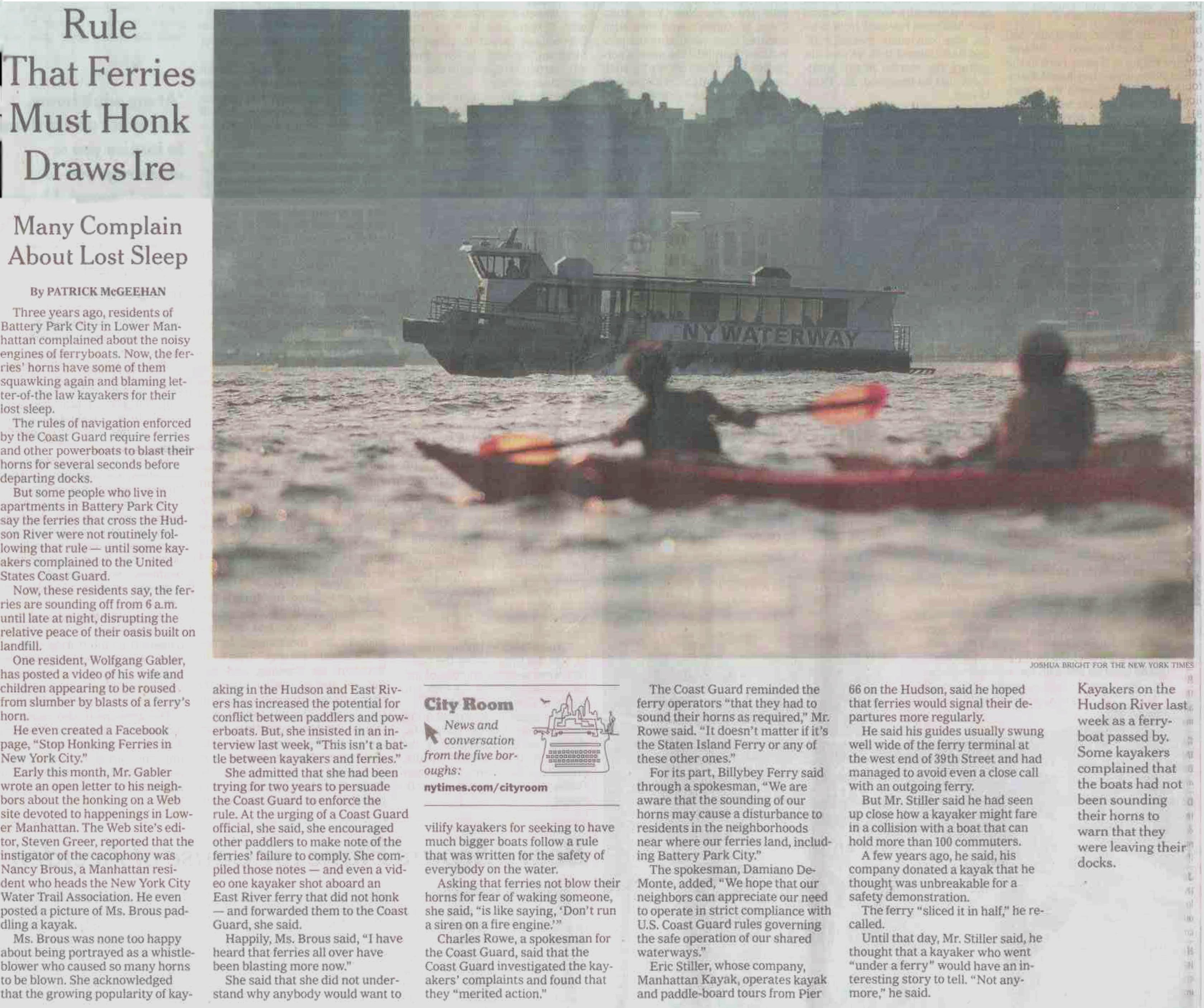 NYT kayak print version scanned