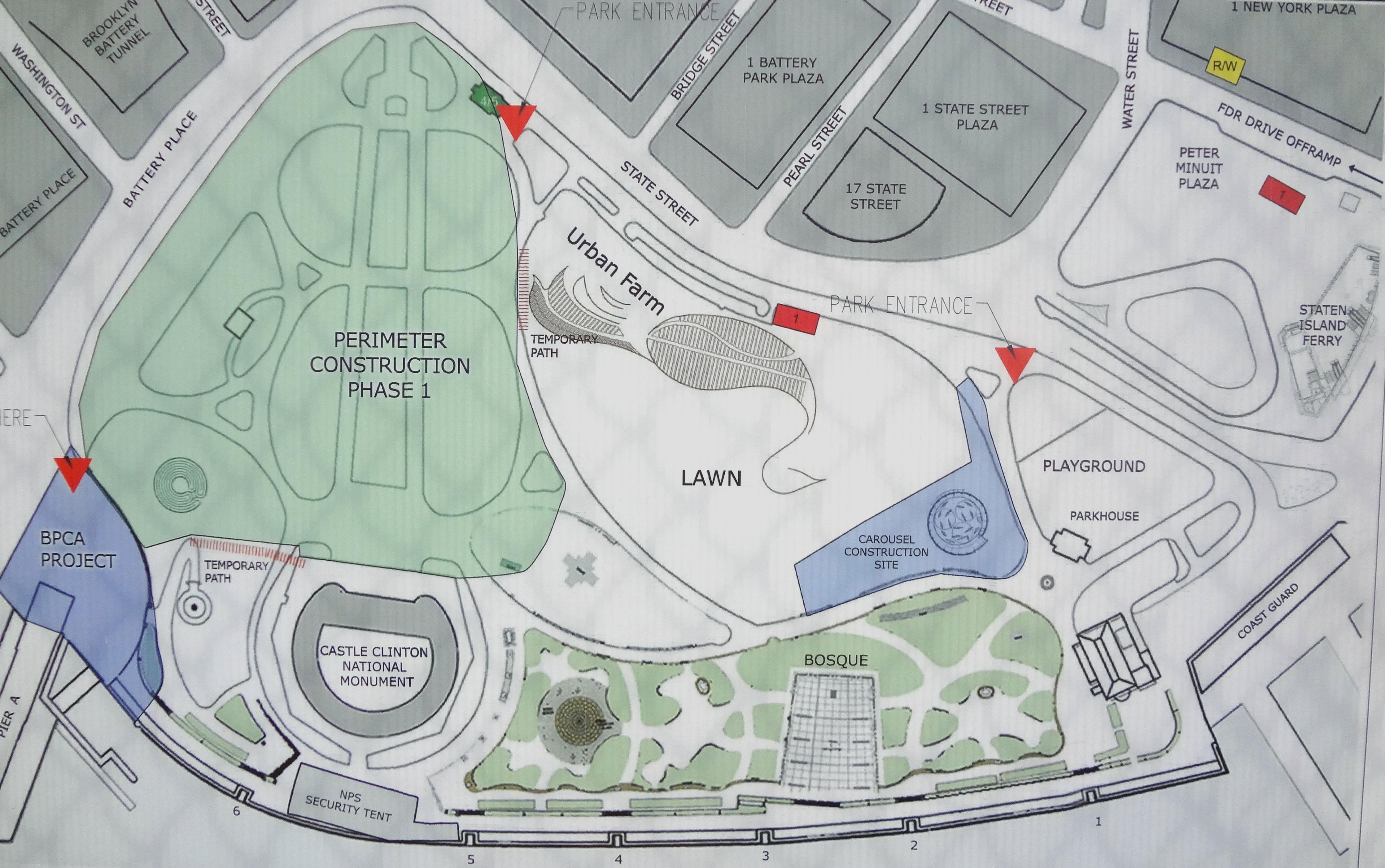 Battery Park design plans