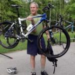 Bush on bike