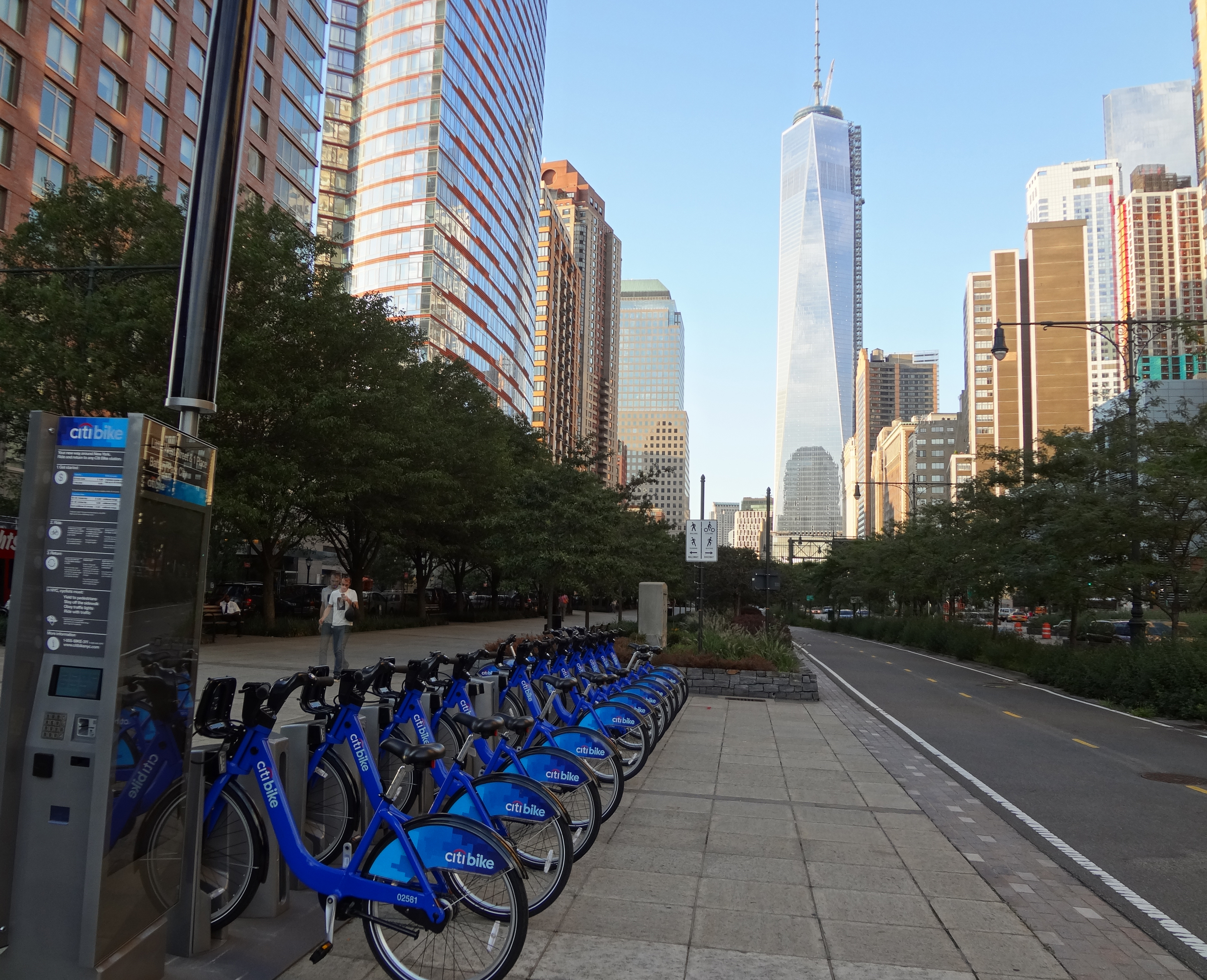 Citi Bike rack on Little West