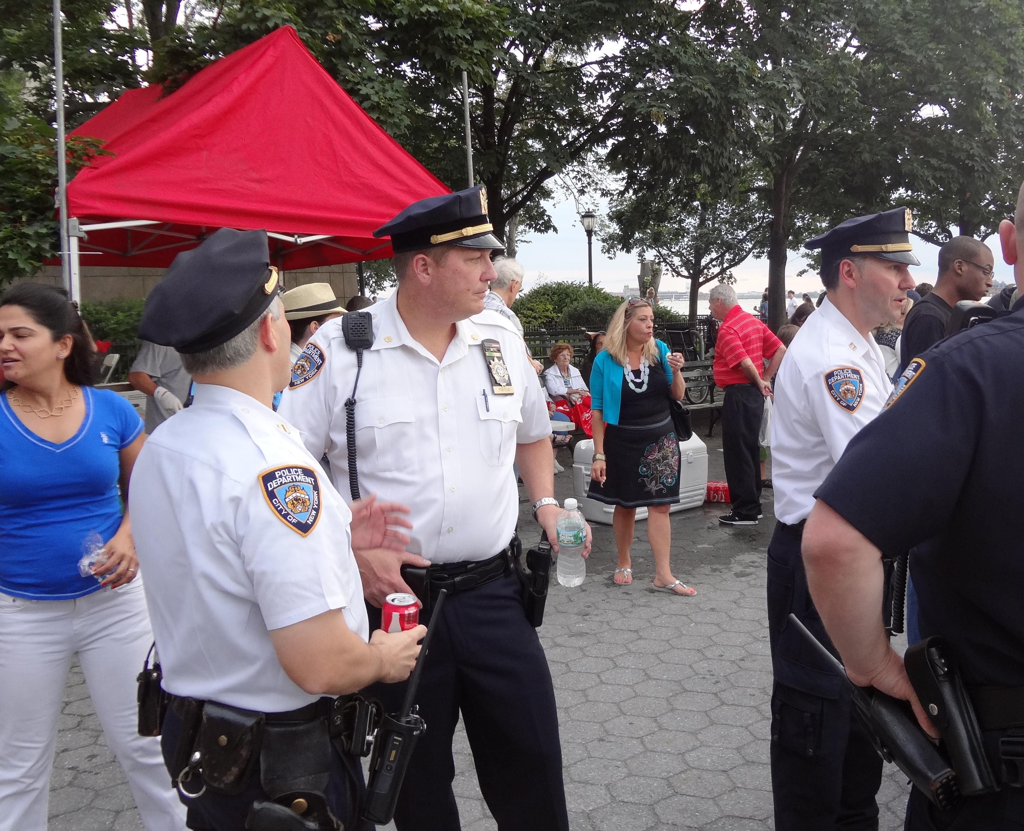 NYPD white shirts