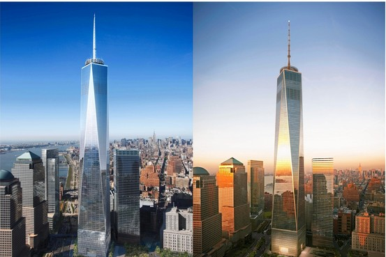 Freedom Tower side by side 1 WTC