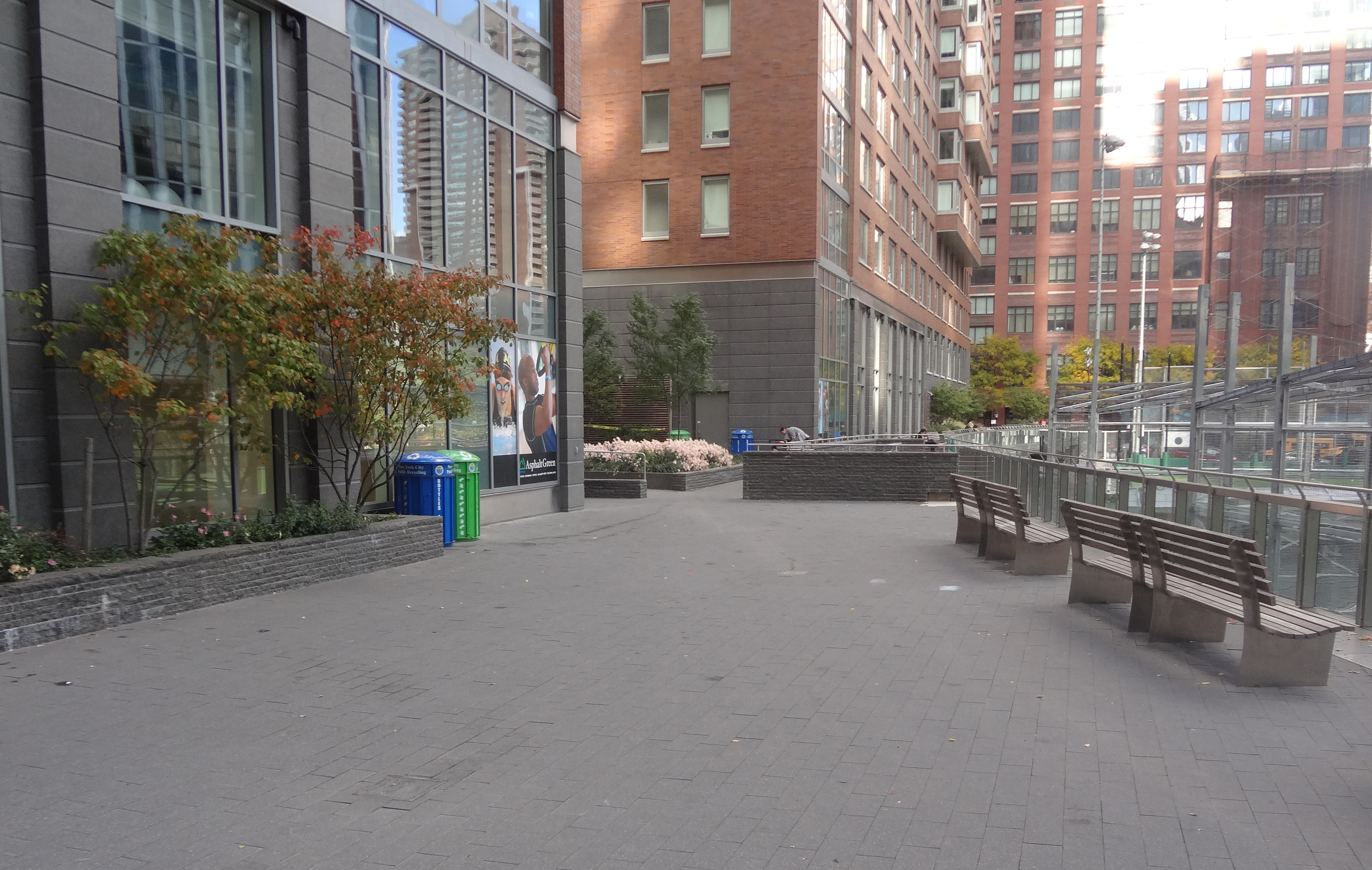 Asphalt Green terrace top
