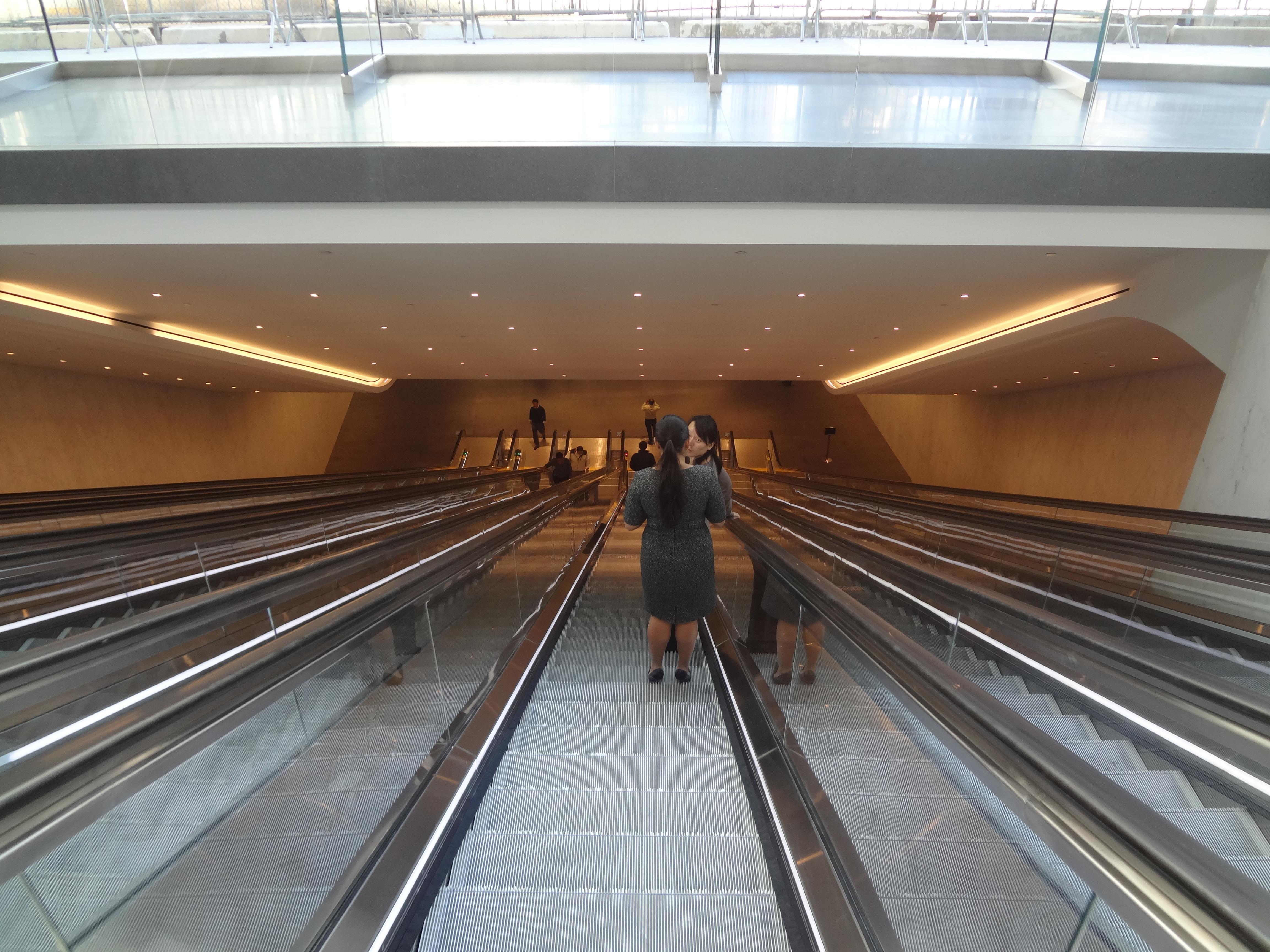 Brookfield escalators going down