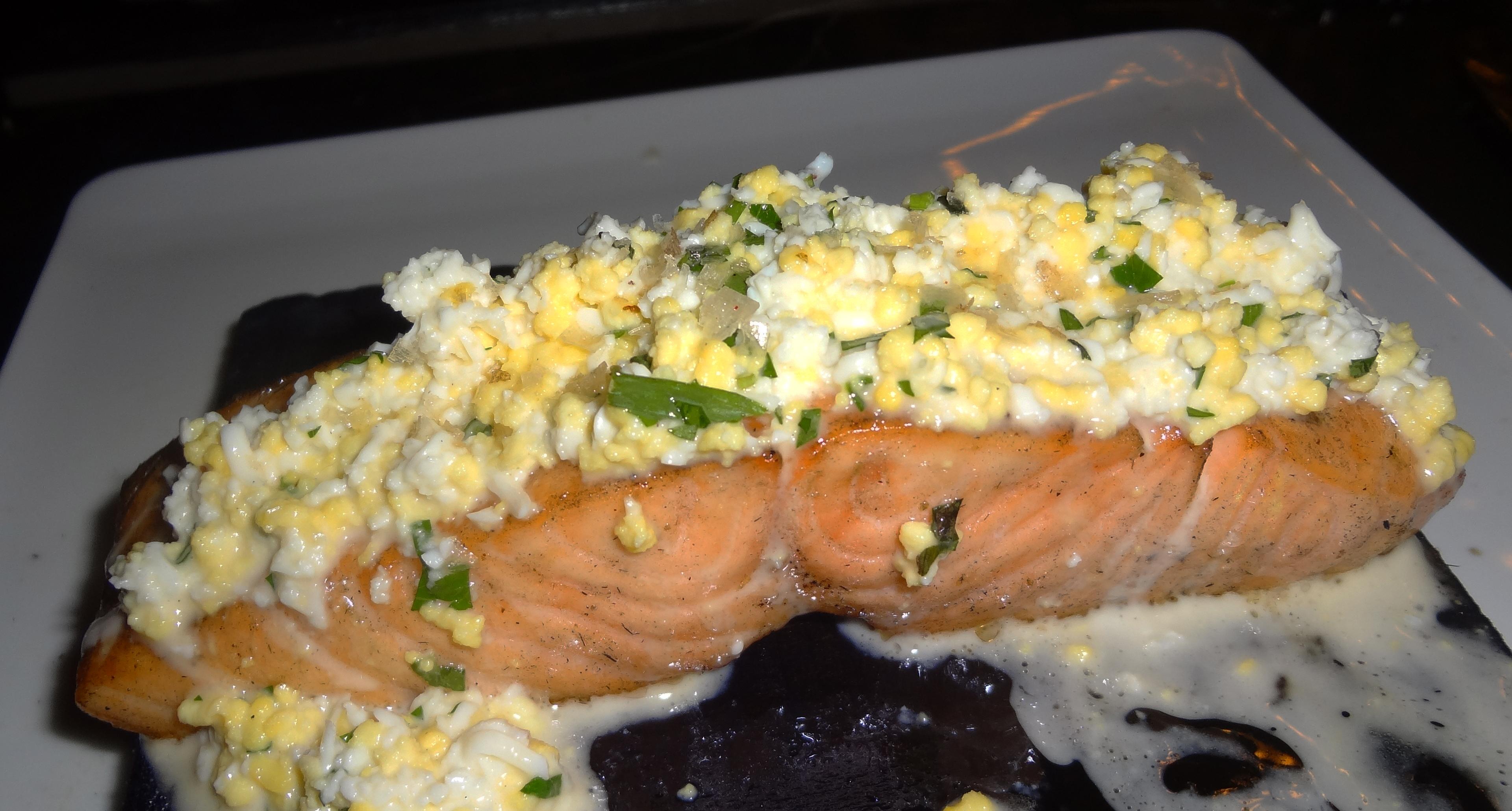 Forgione planked salmon