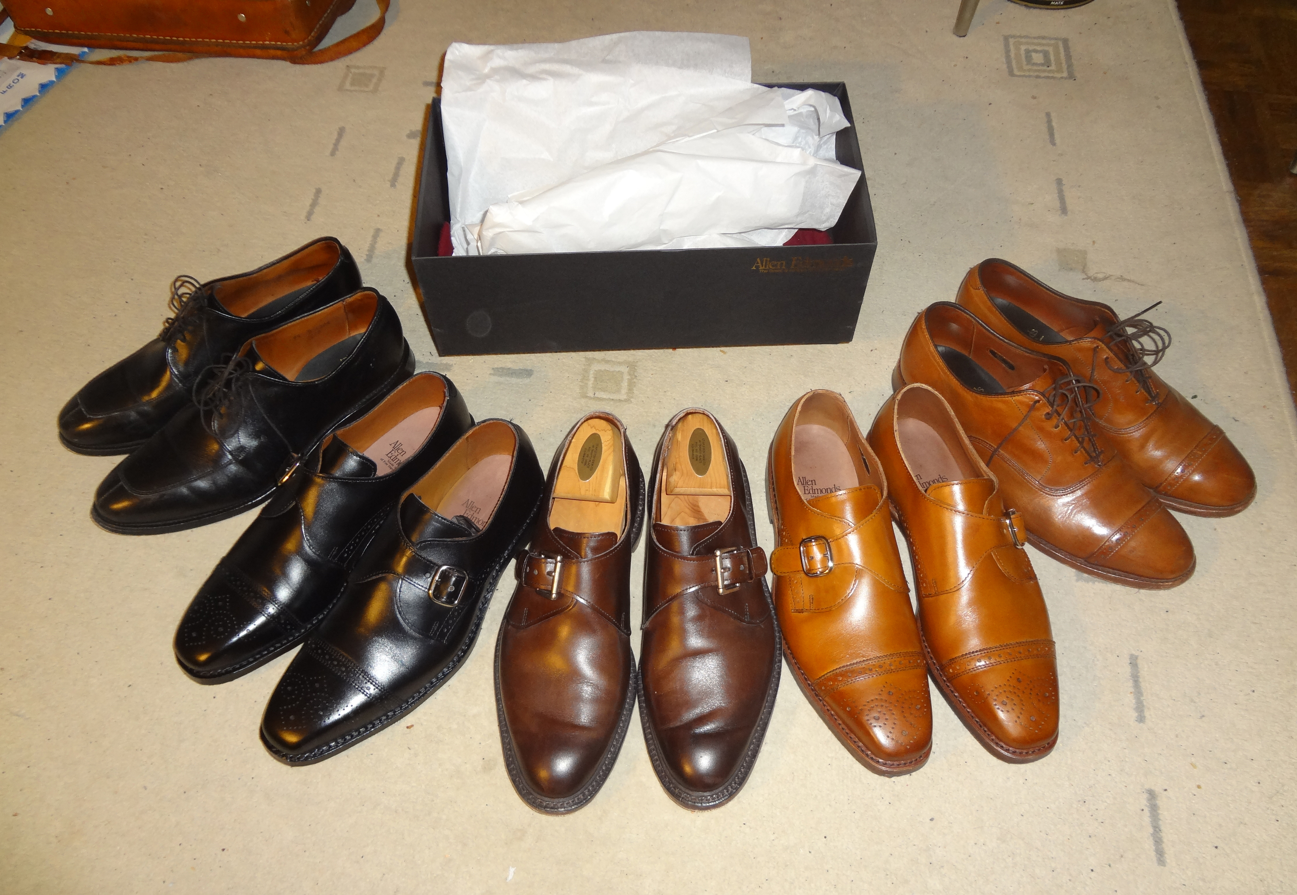 Leather shoes collection