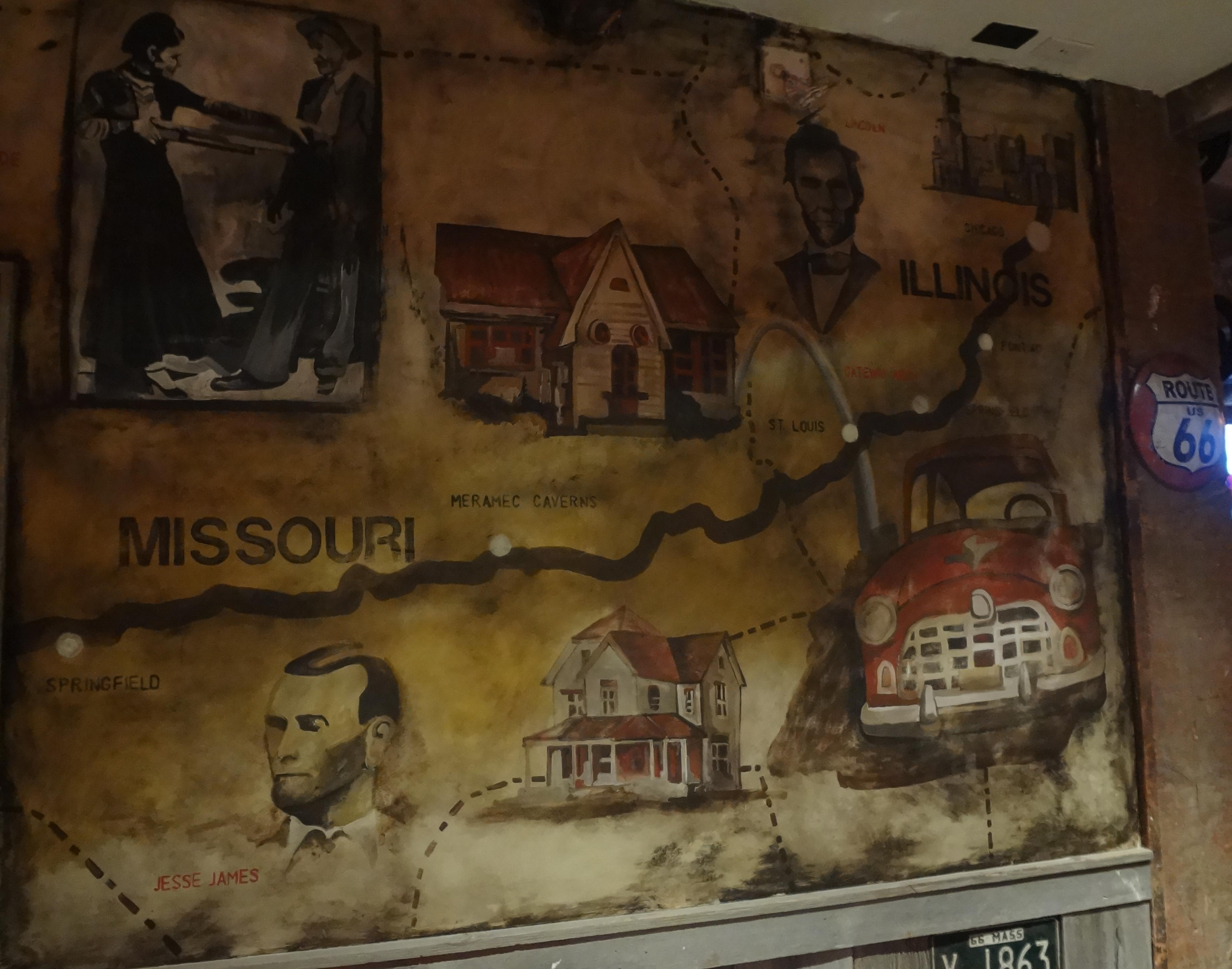 Mural upstairs