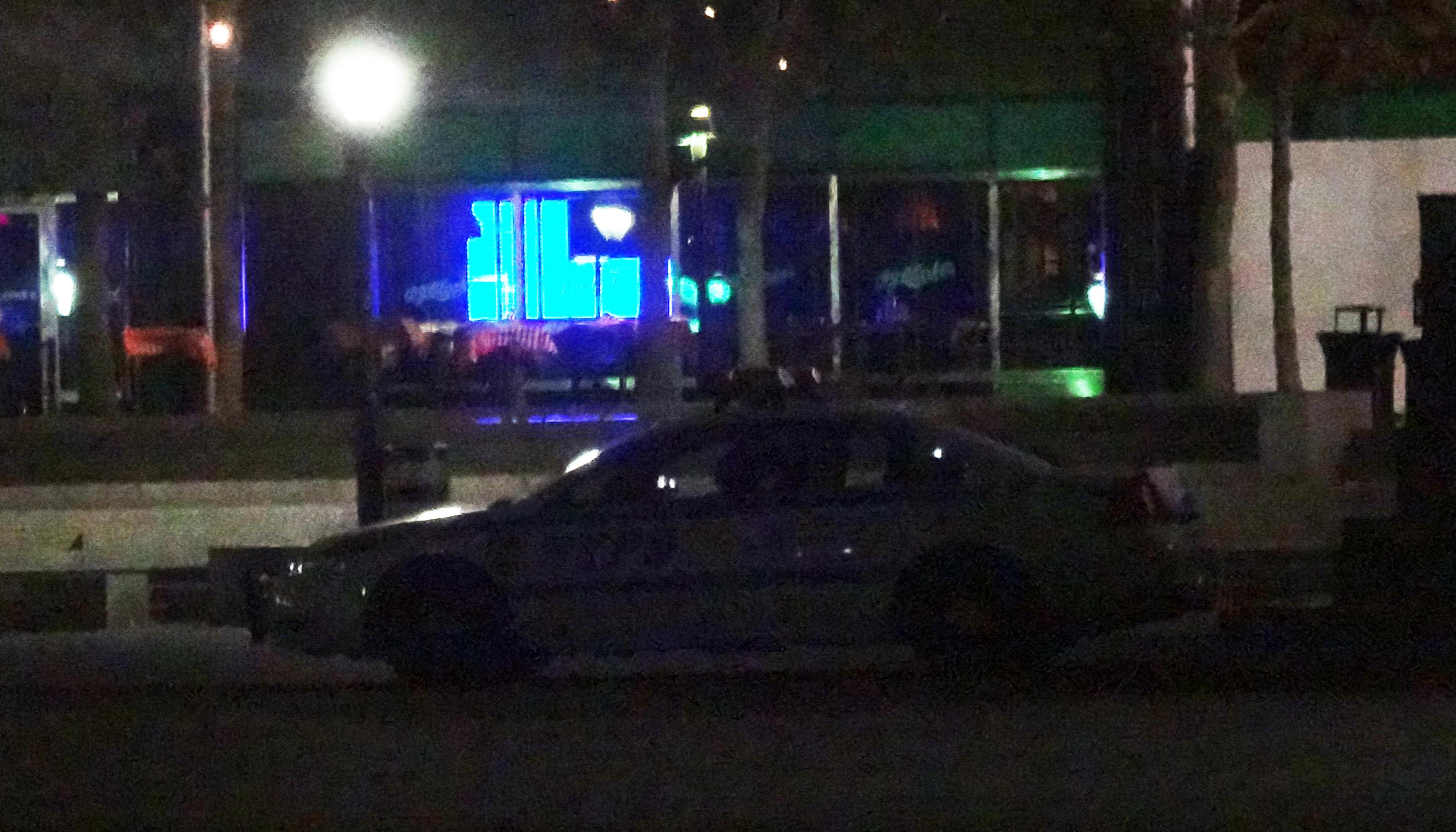 NYPD car on esplanade