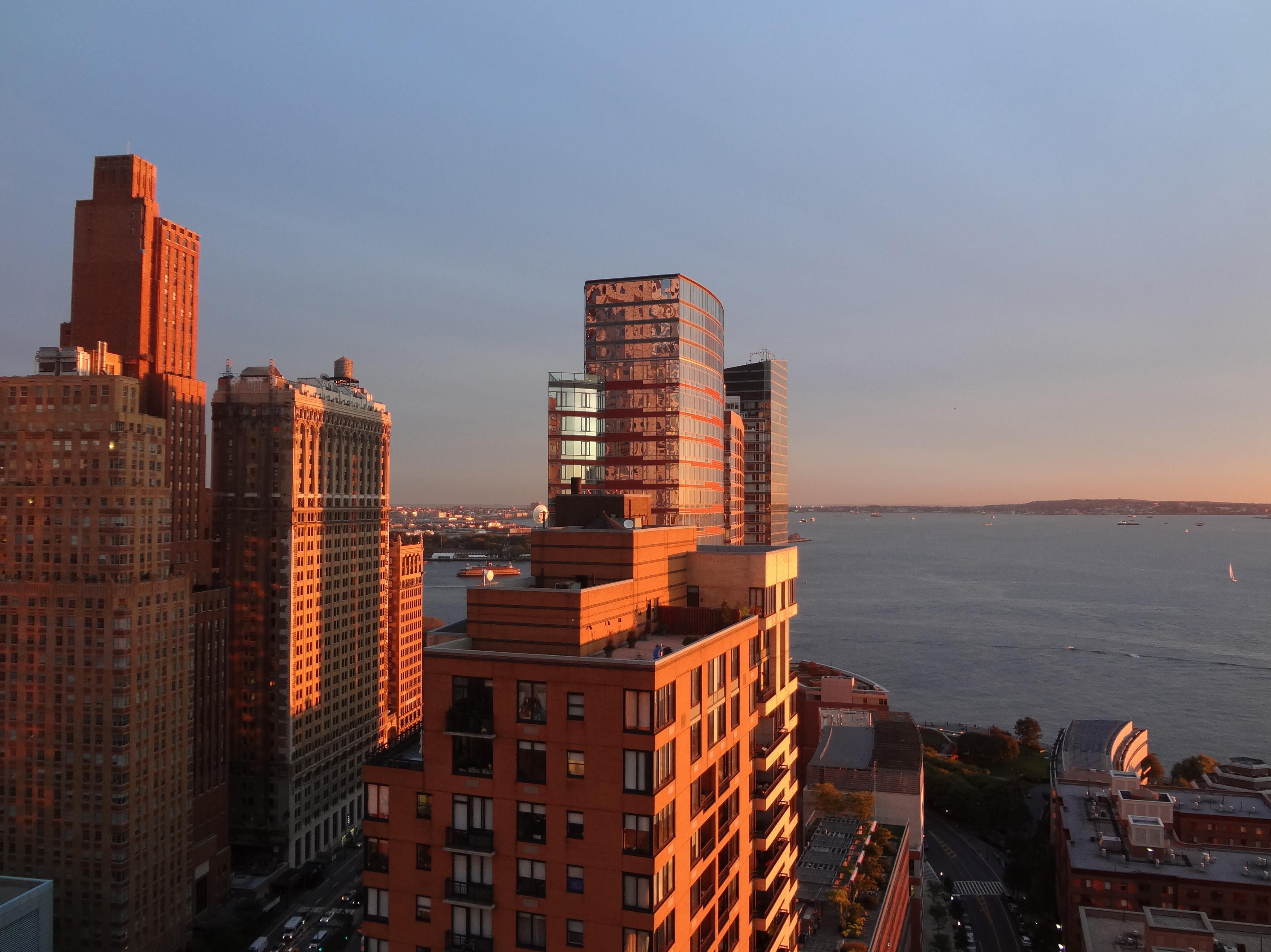 Sunset New York Harbor 10-8-2013