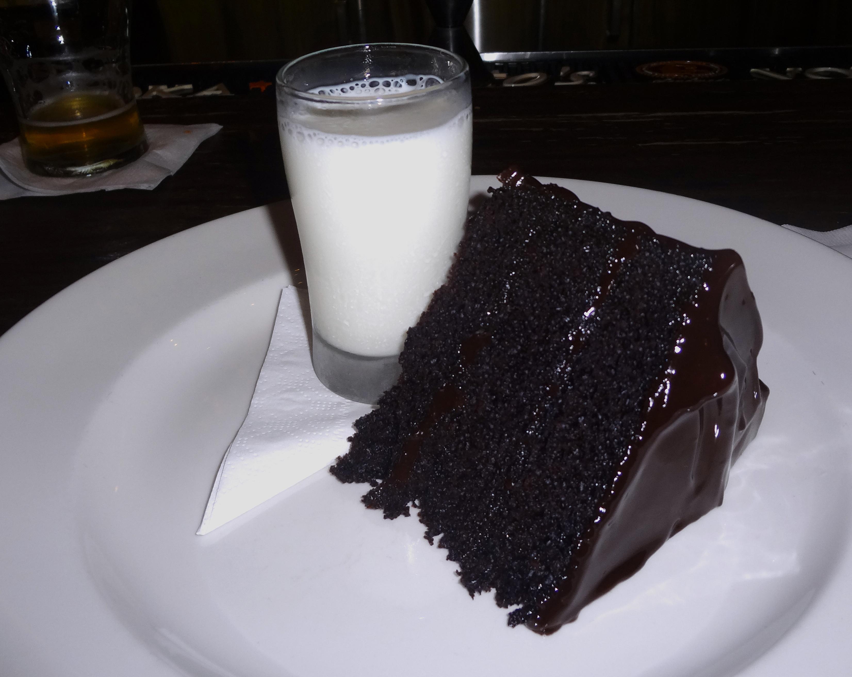 Blue Smoke chocolate cake
