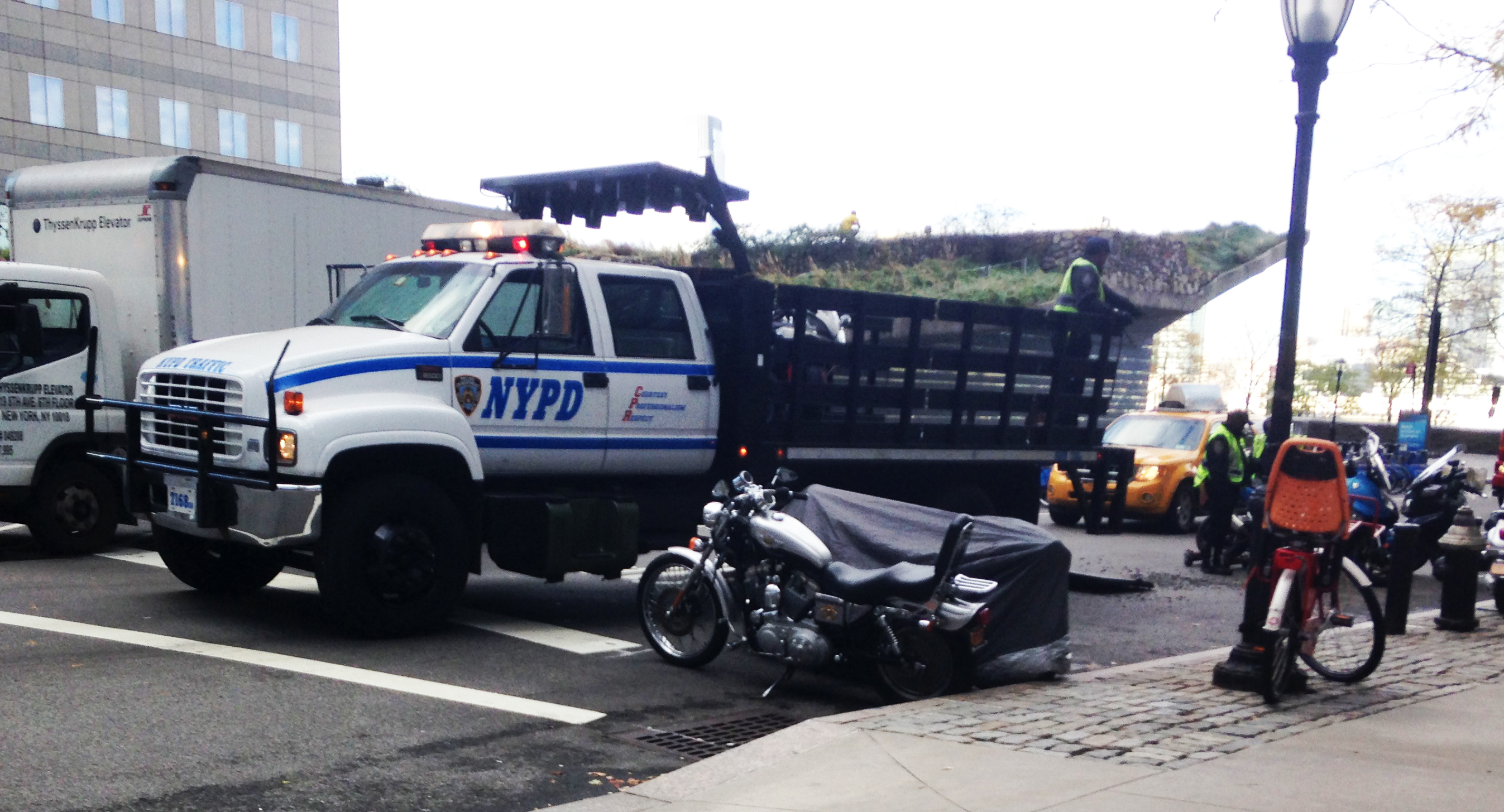 Motorcycles towed