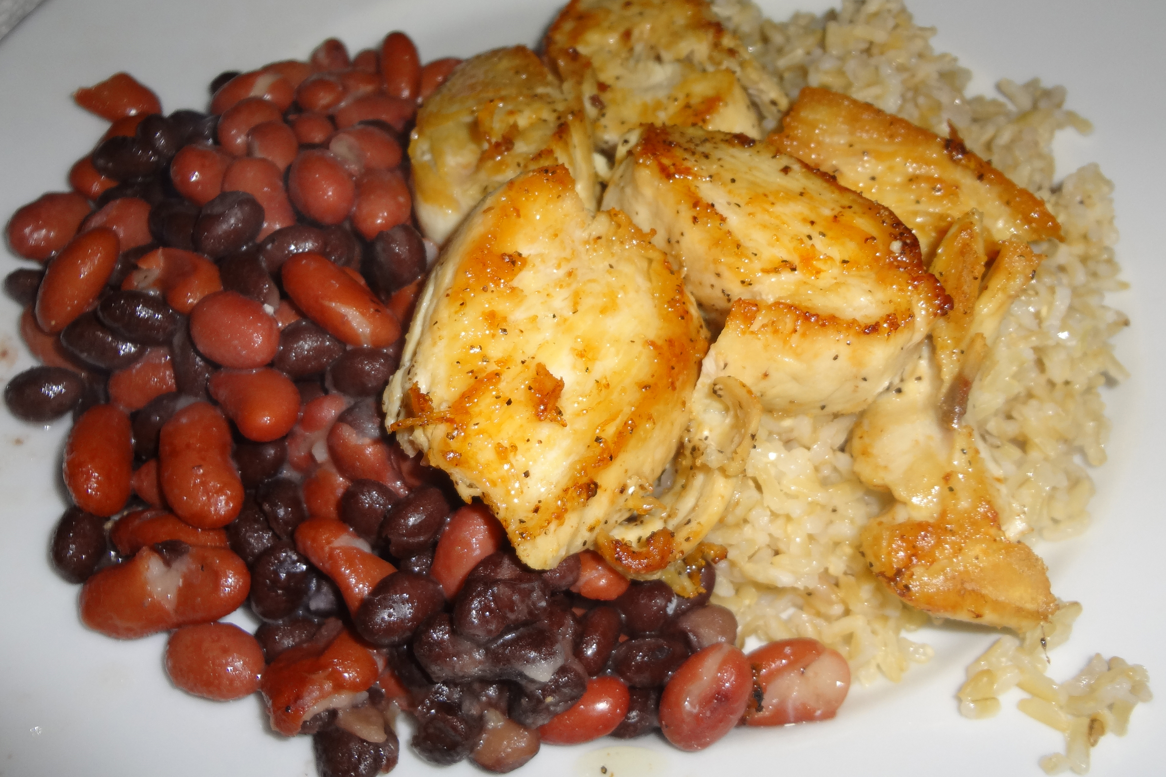 Rice beans chicken