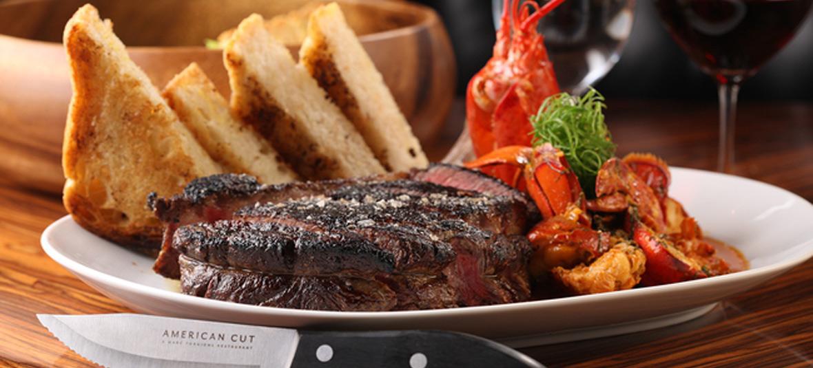 American Cut steak lobster toast