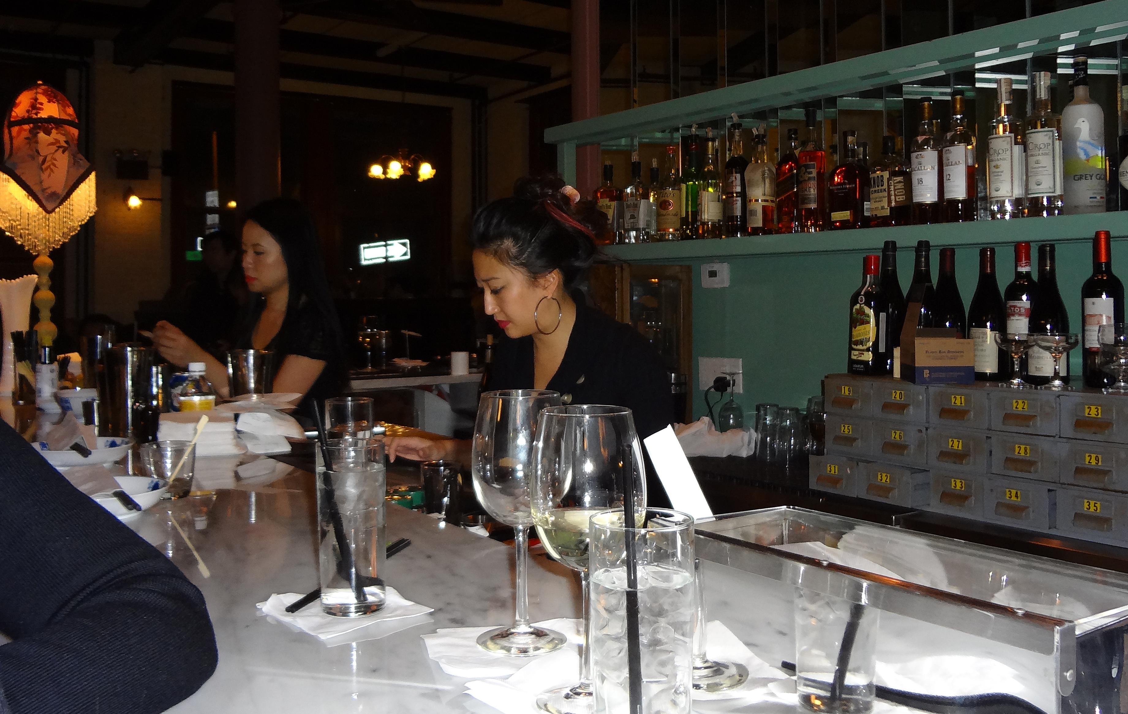 Blue China bartender