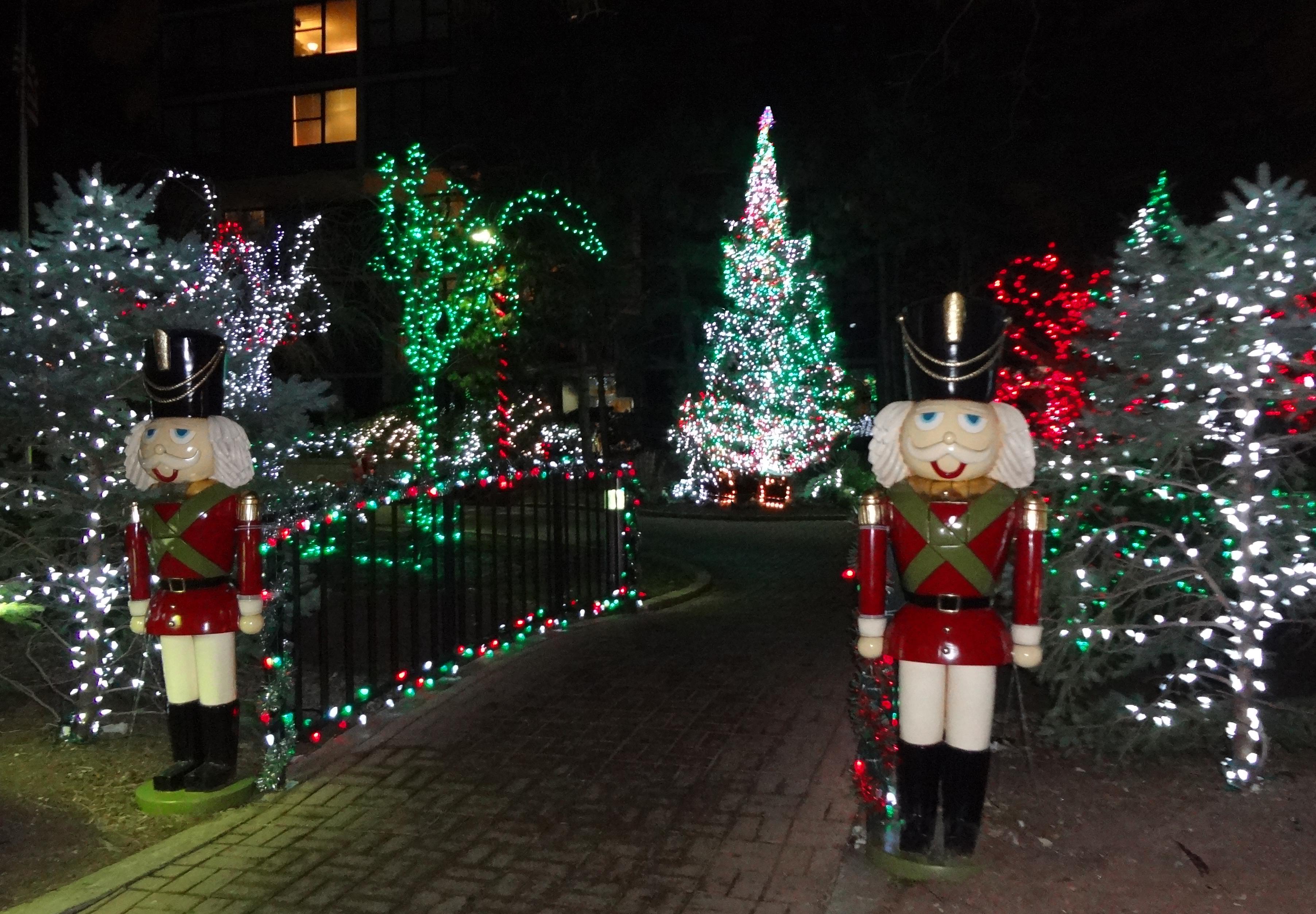 Gateway Plaza Christmas tree lights