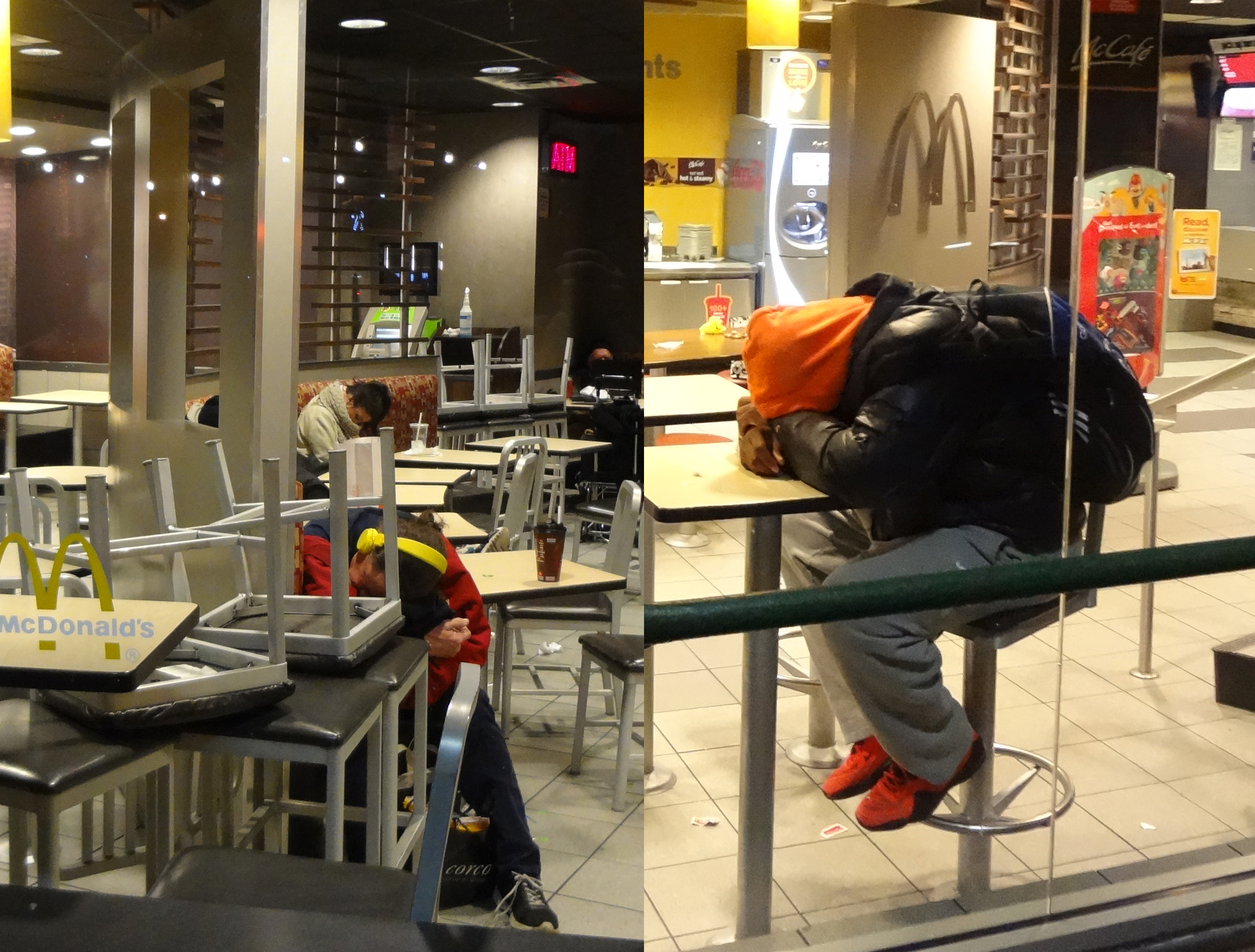 Homeless in McDonalds