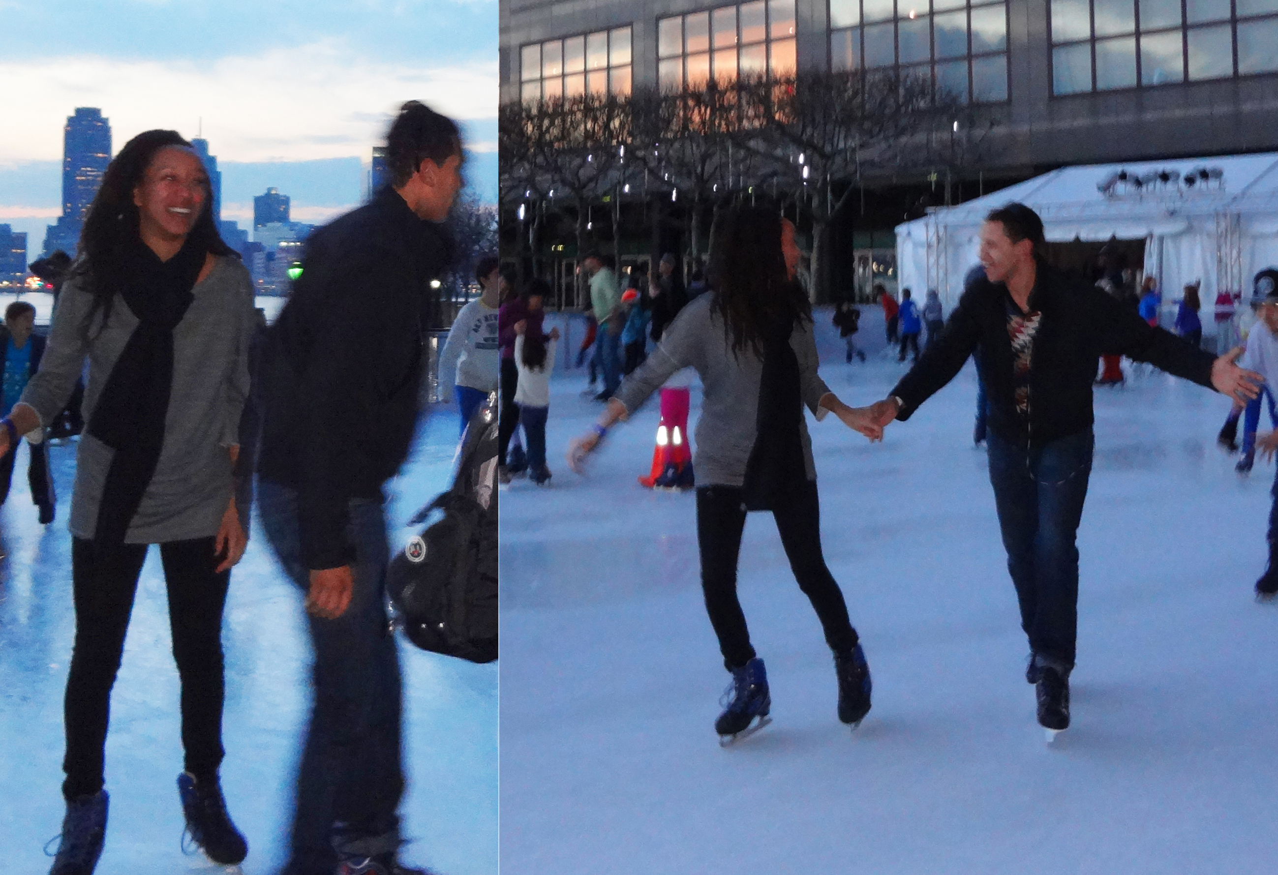 Ice skater woman