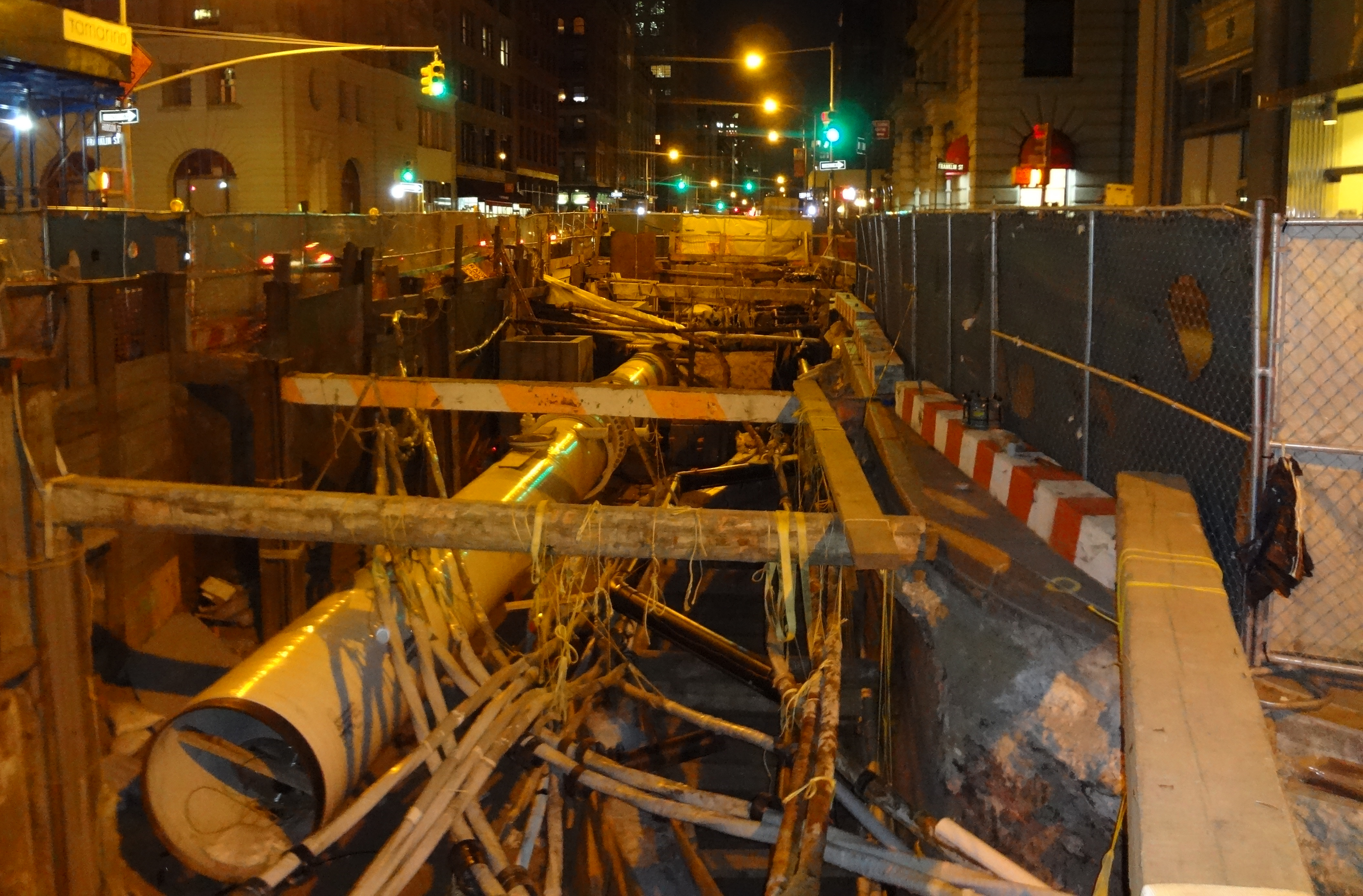 North Moore and Hudson street construction