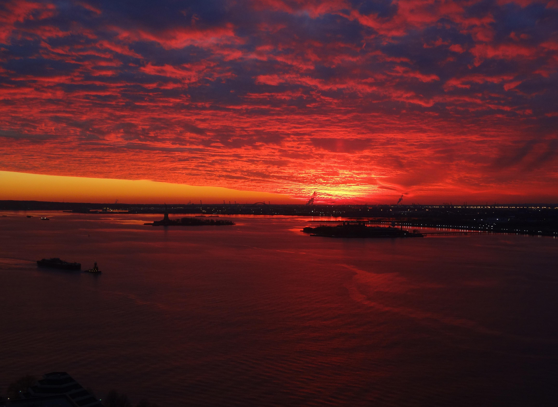 Red sunset 12-25-2013