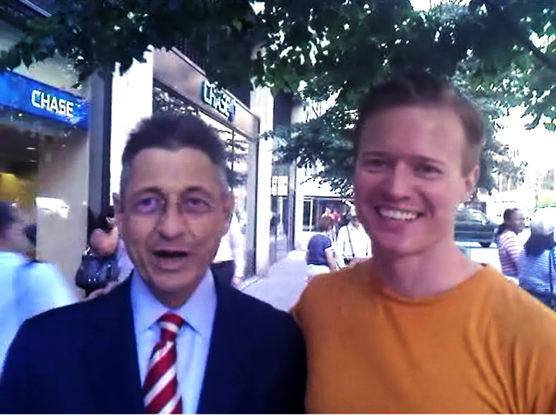 Sheldon Silver and me 2009