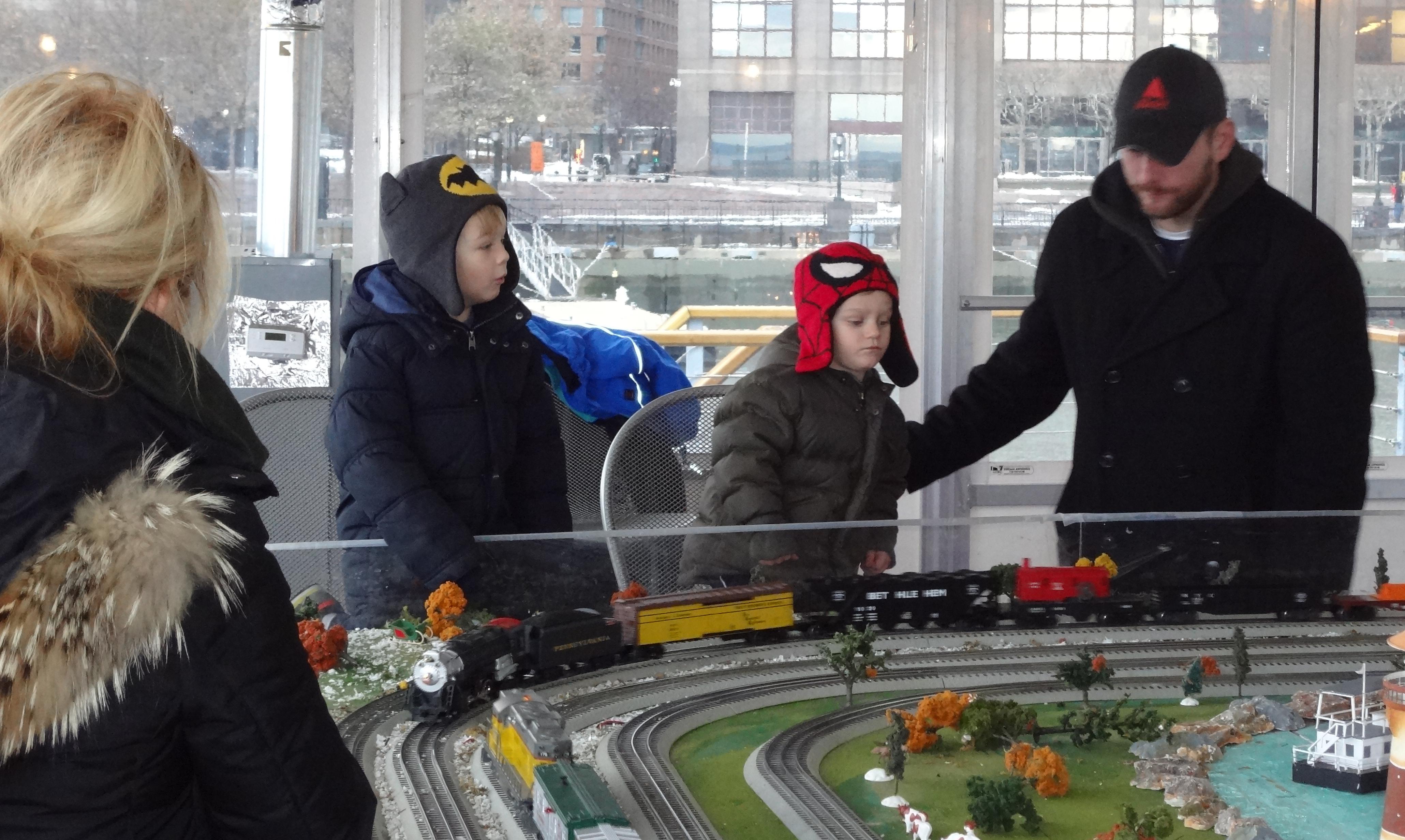 Train set kids father A