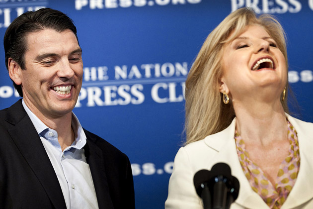 Press Club Luncheon With AOL's Tim Armstrong And Arianna Huffington
