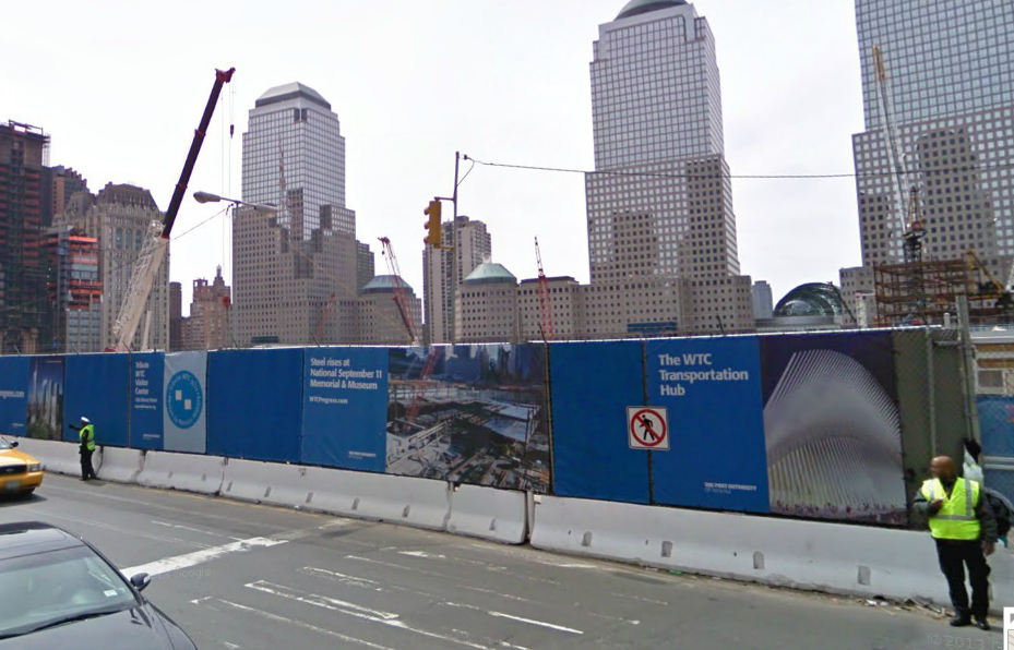 WTC fence on Church
