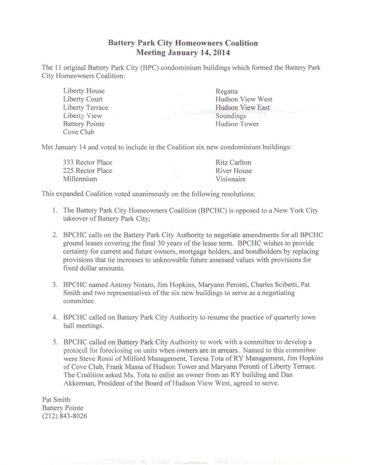 BOC Homeowners Resolution