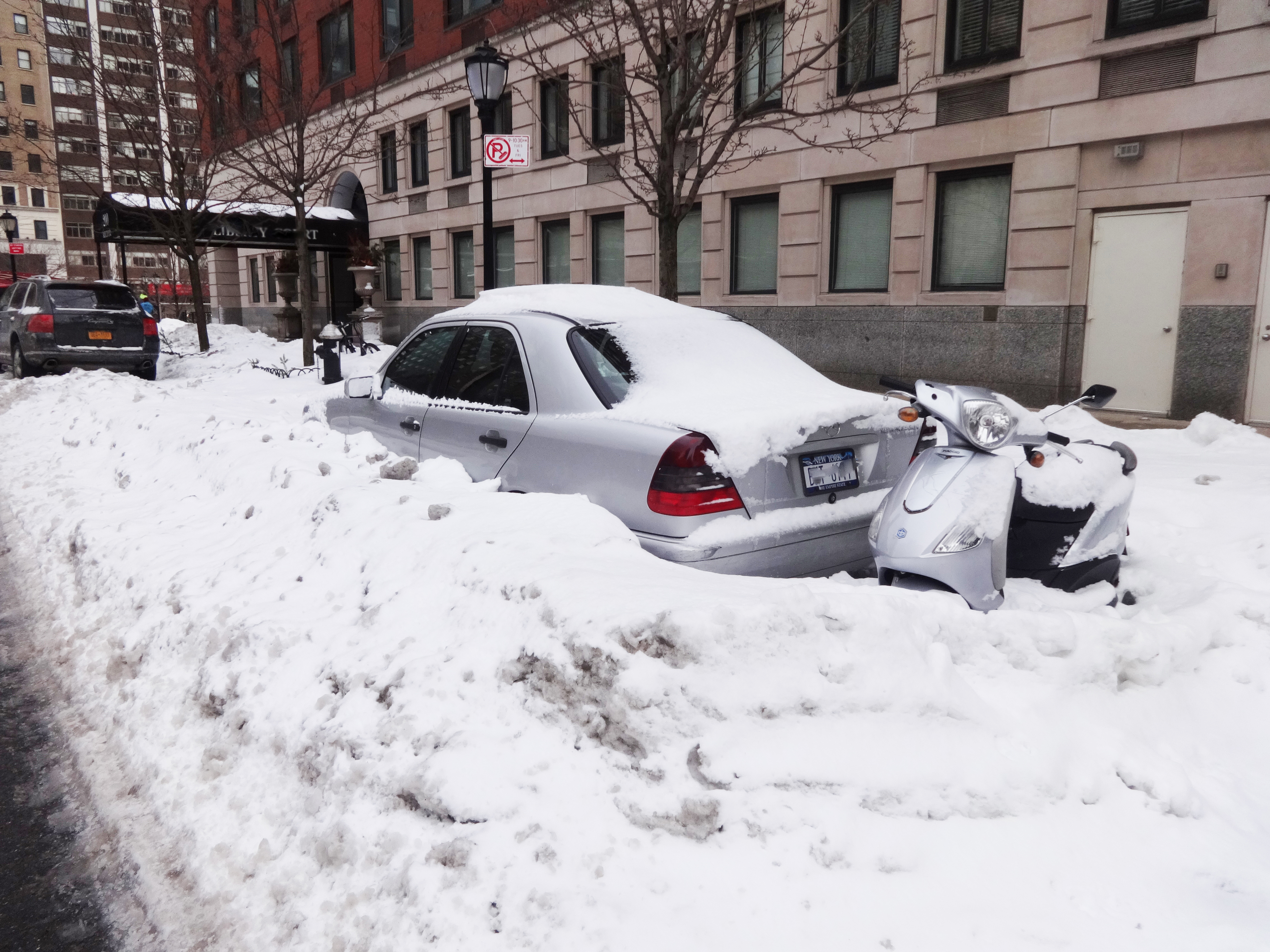 Cars buried on rector