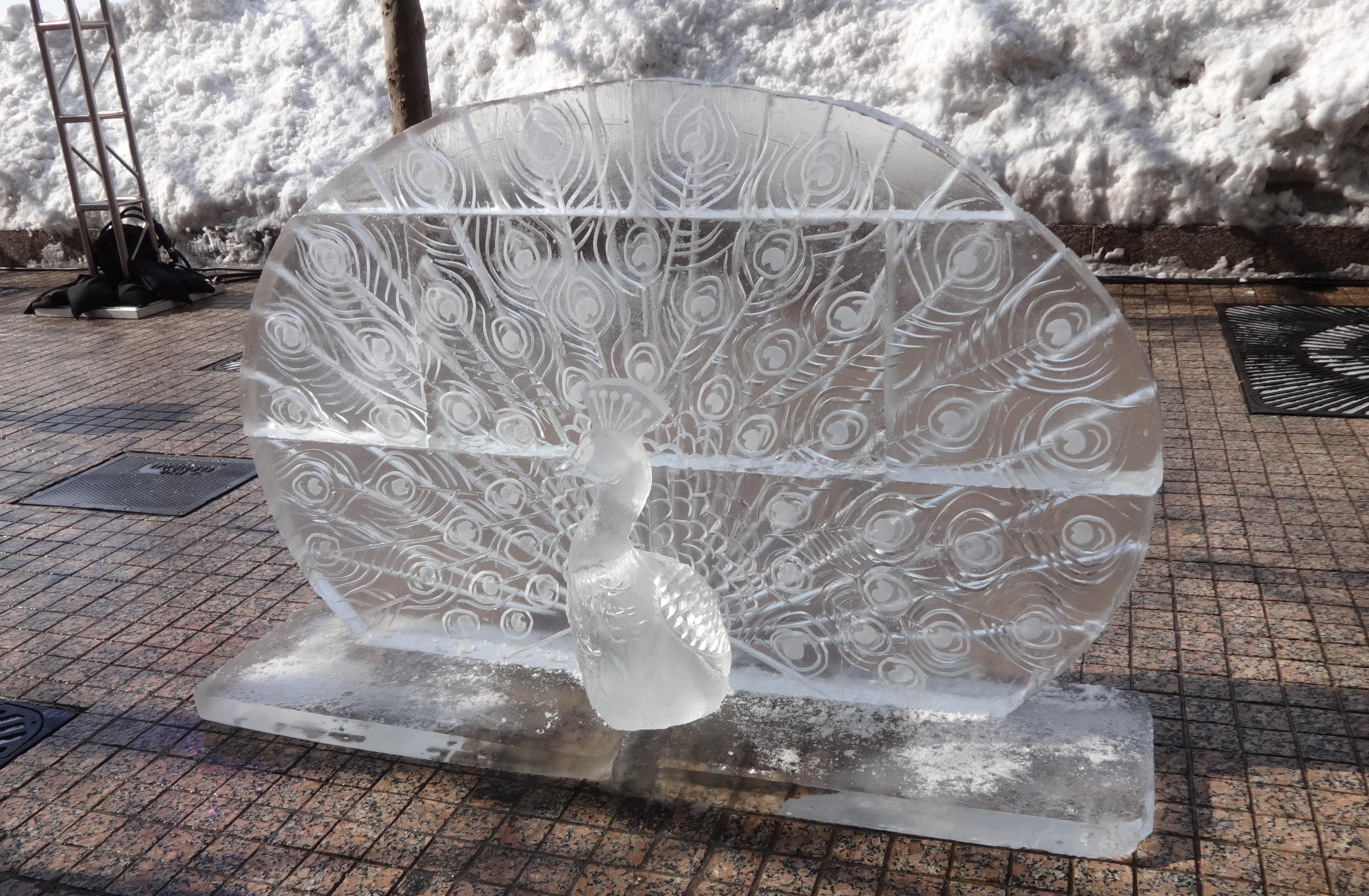 Ice peacock