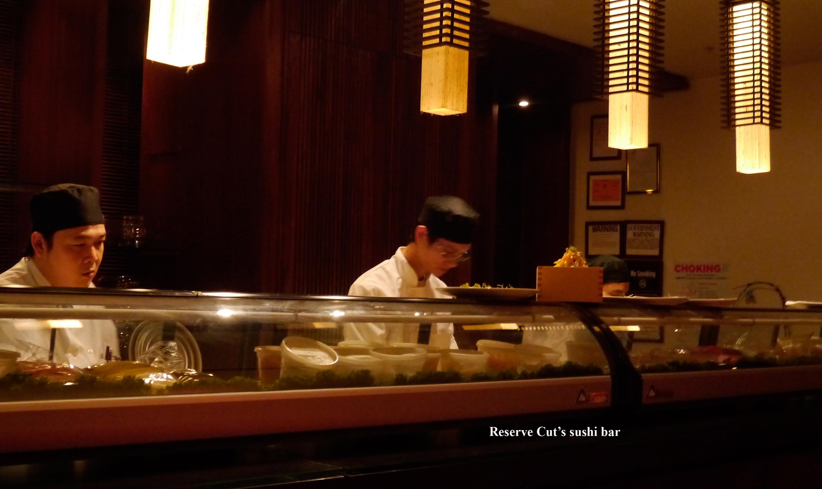 Sushi bar Reserve Cut