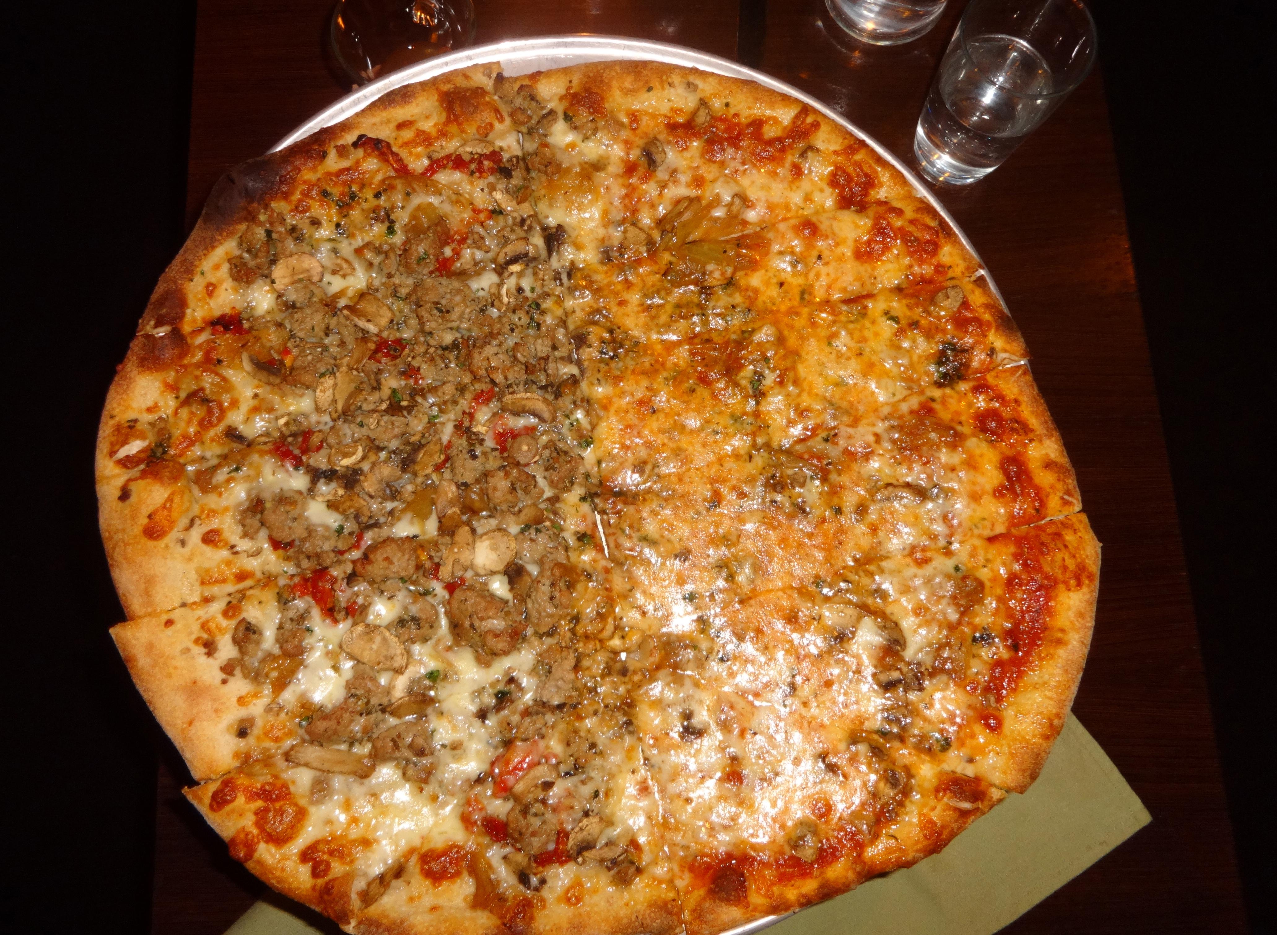 American Flatbread pizza top view crop