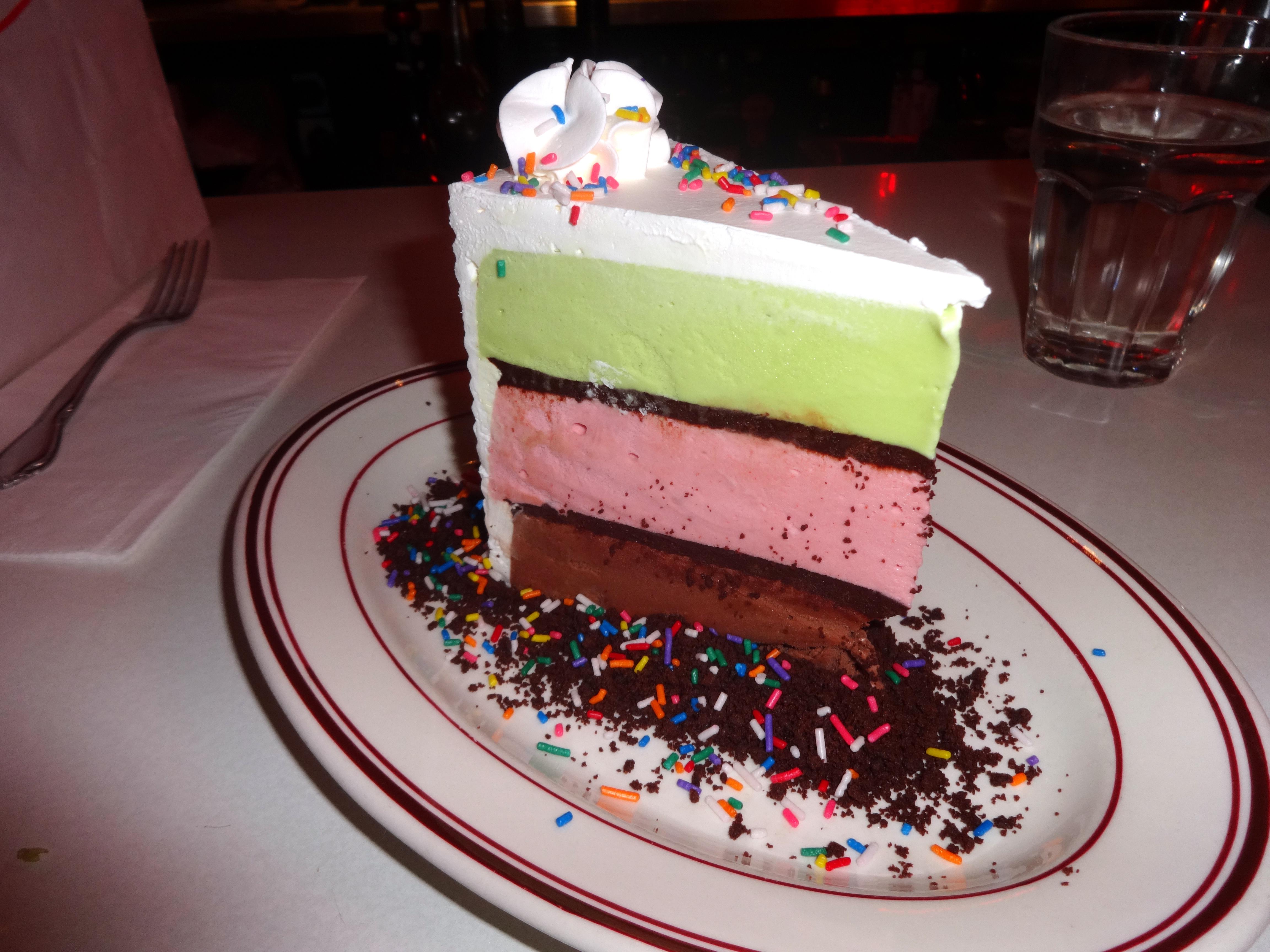 Parm ice cream cake