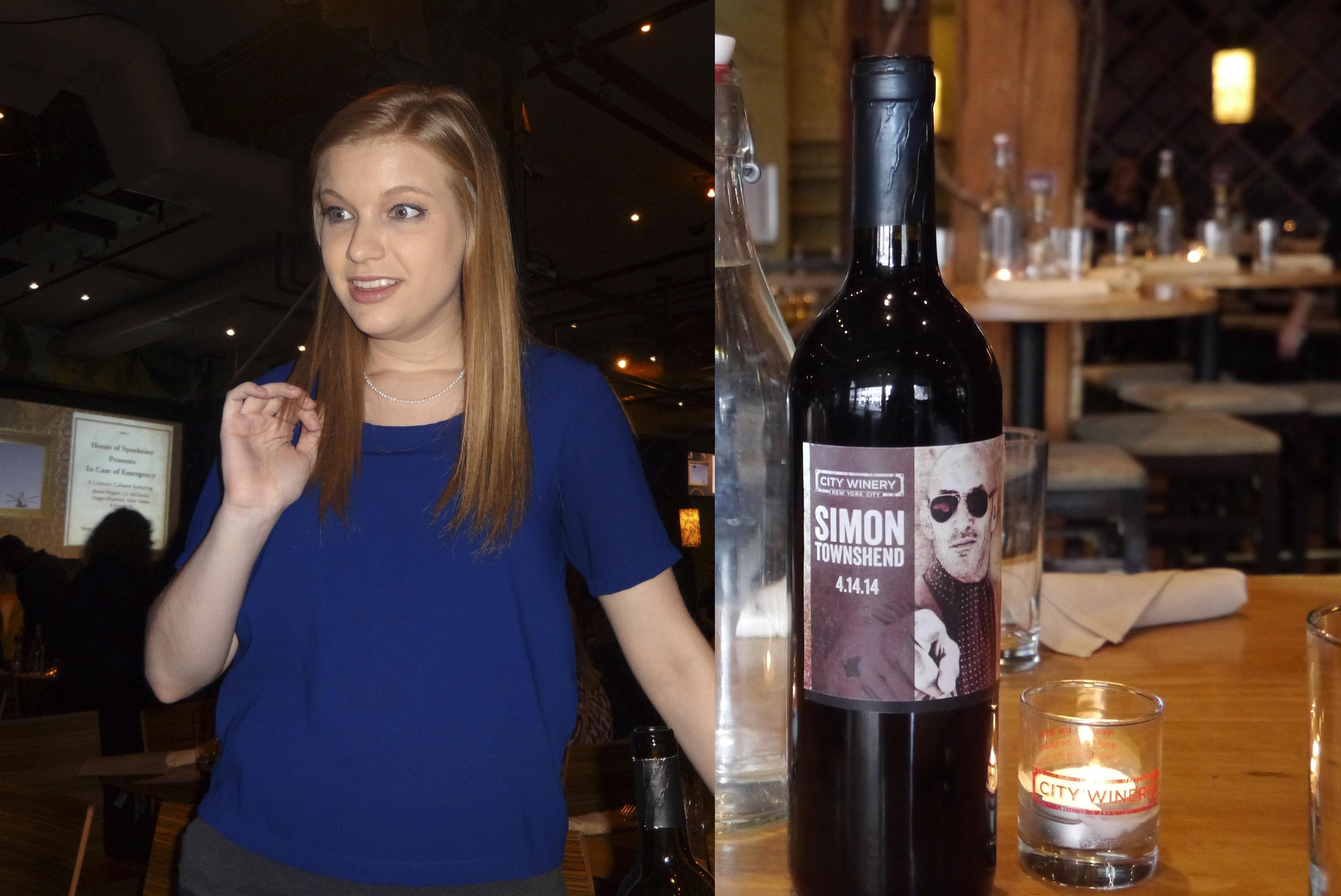 City Winery wine lady