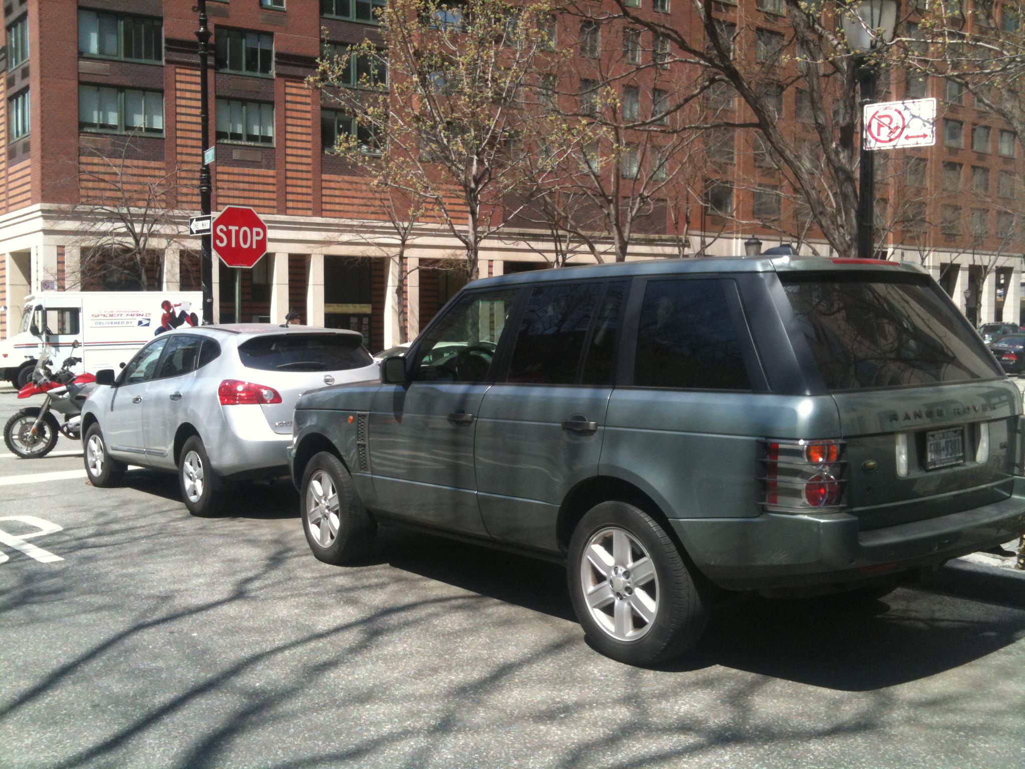 Range Rover parked