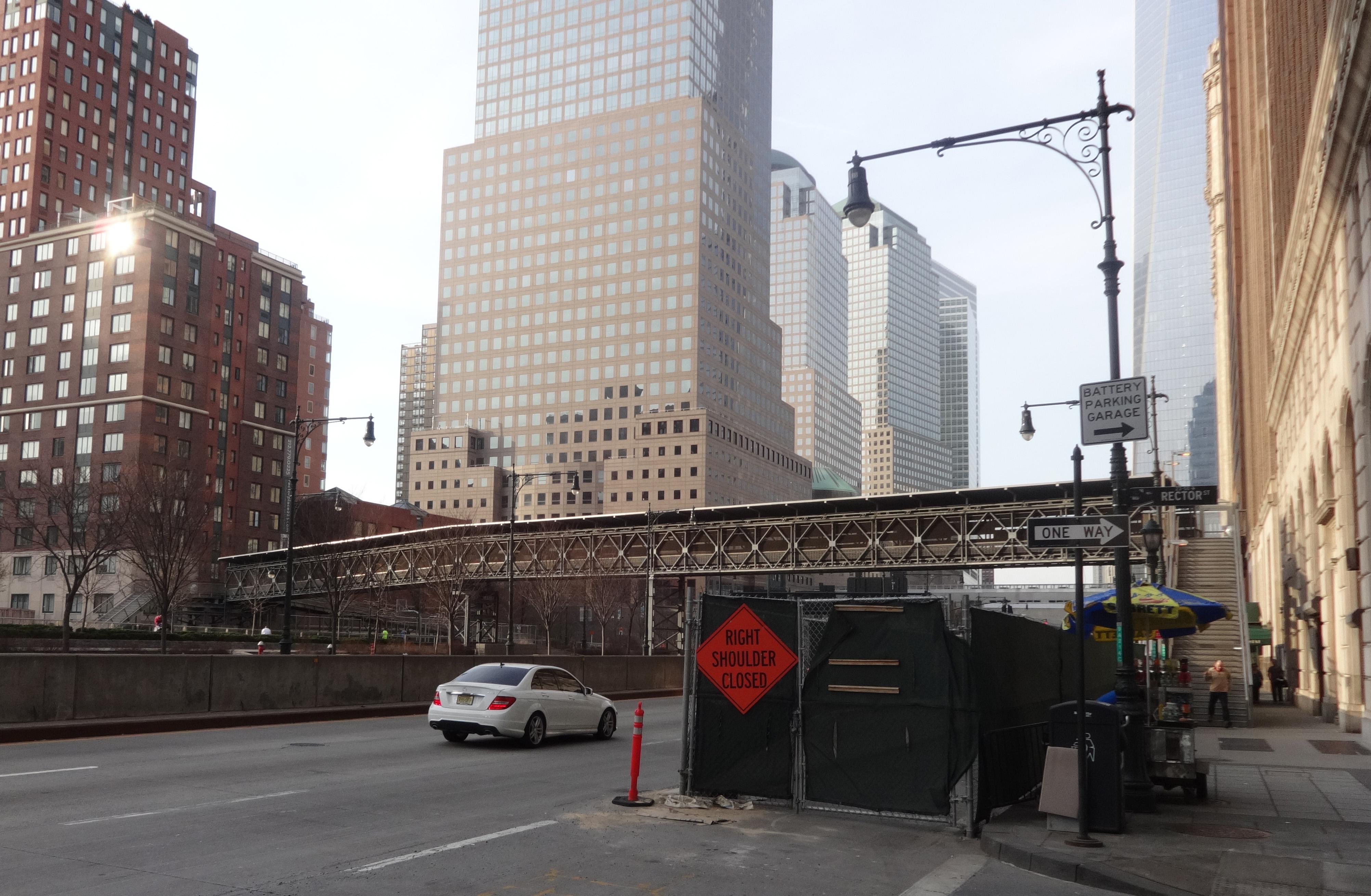 Rector STreet bridge from east side