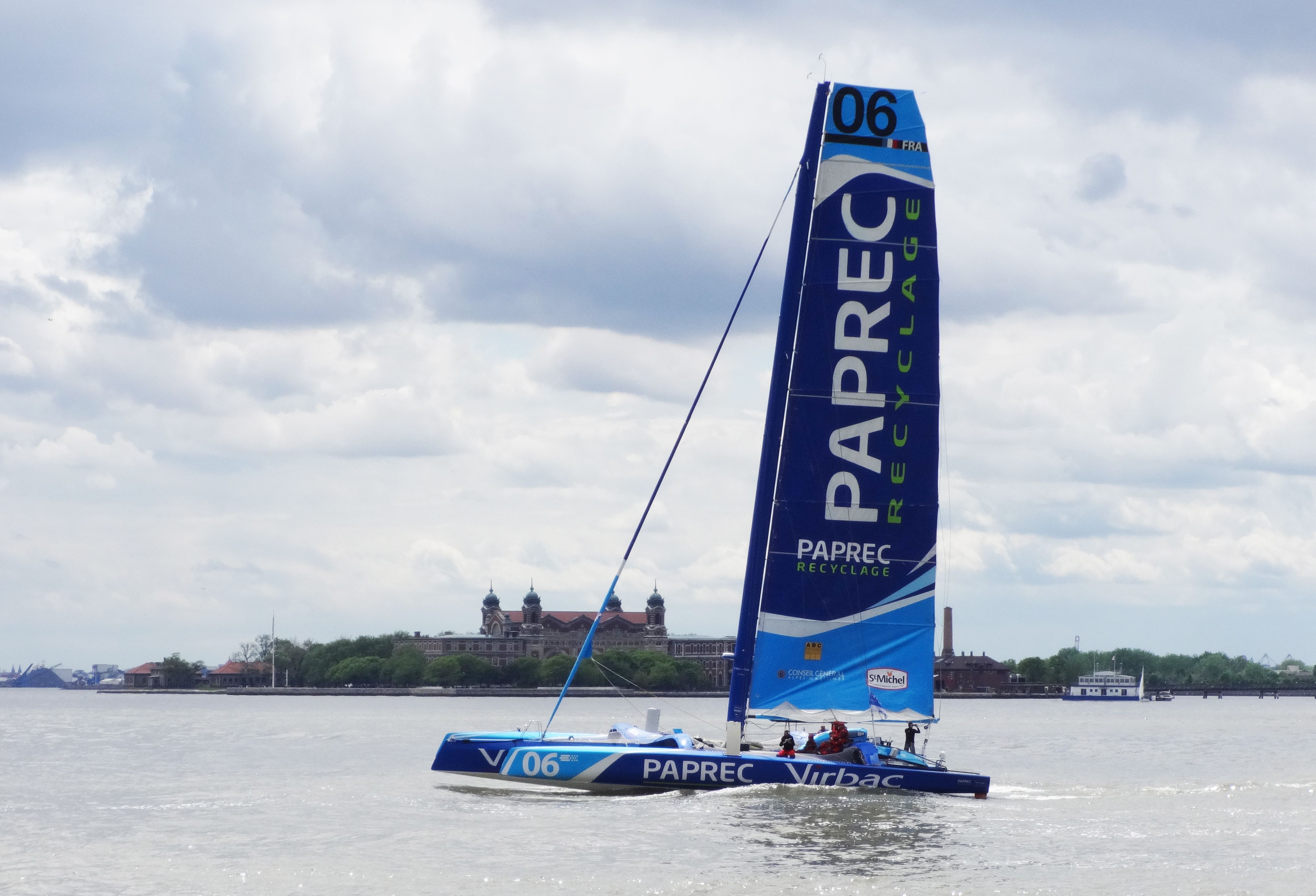 Small Americas cup boat