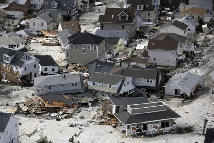Staten Island Houses washed away by Hurricane Sandy