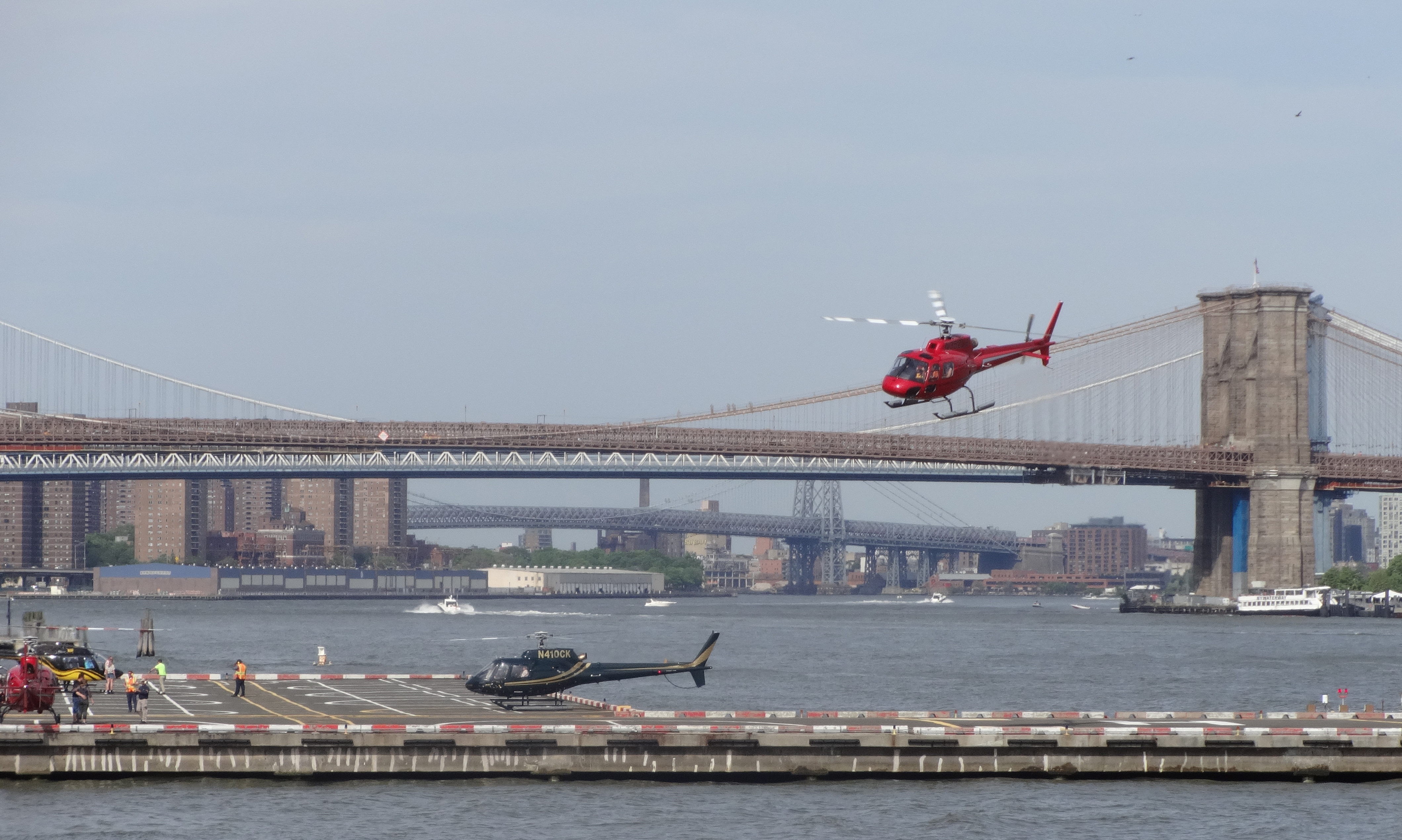 Tourist helicopters Seaport 5-26-2014