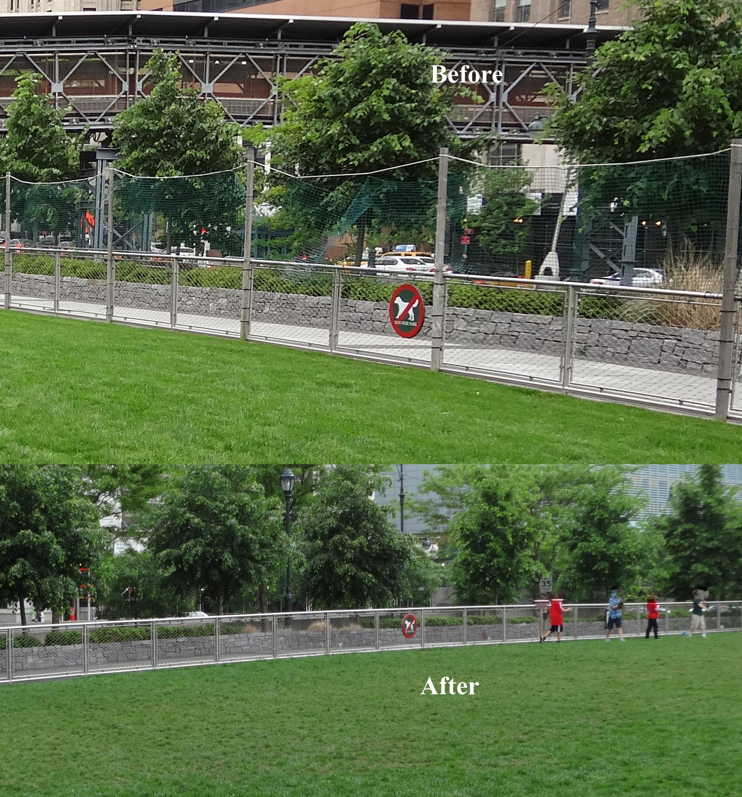 West Thames fence gone 5-23-2014
