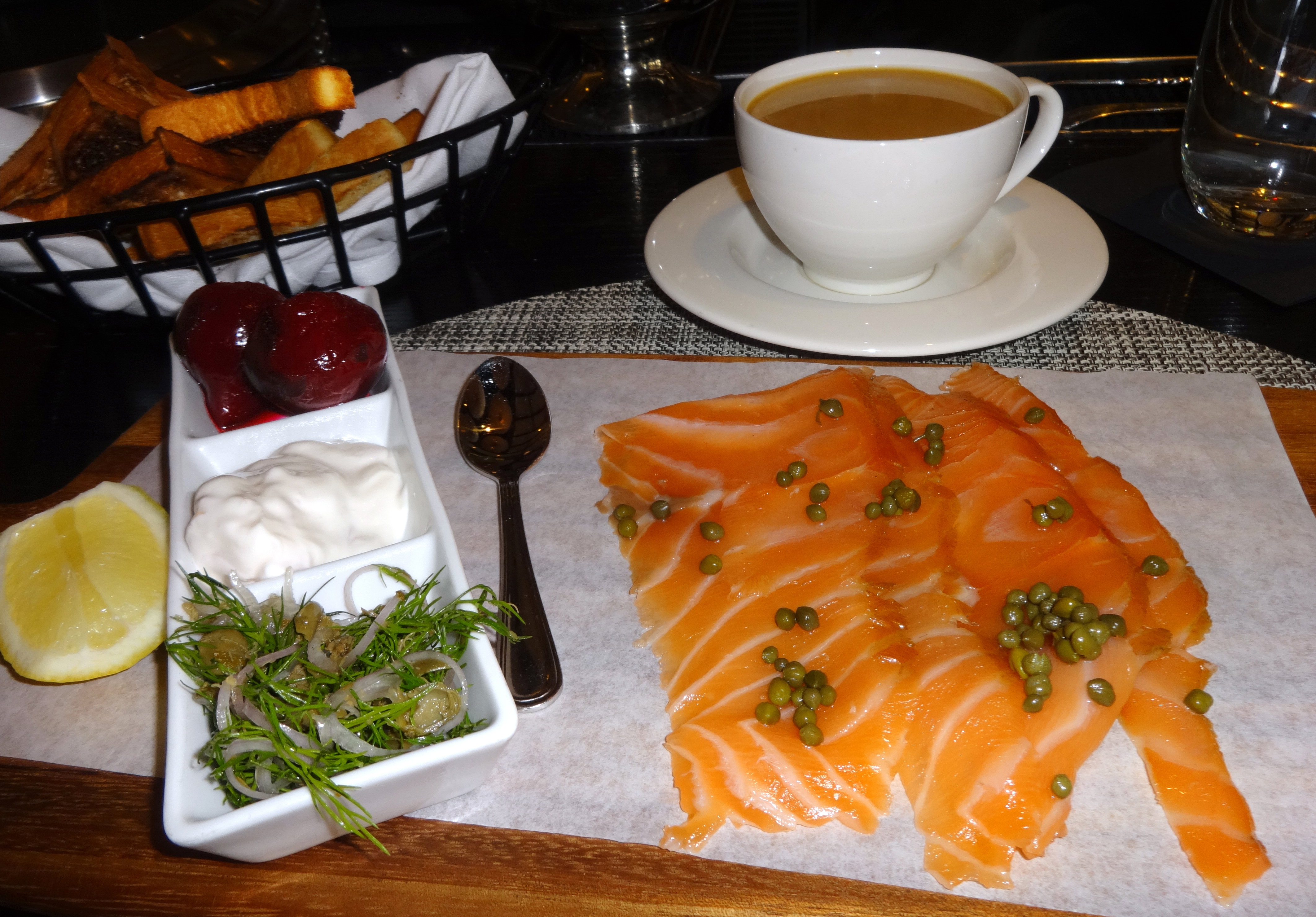 Cured salmon brunch item North End Grill 2
