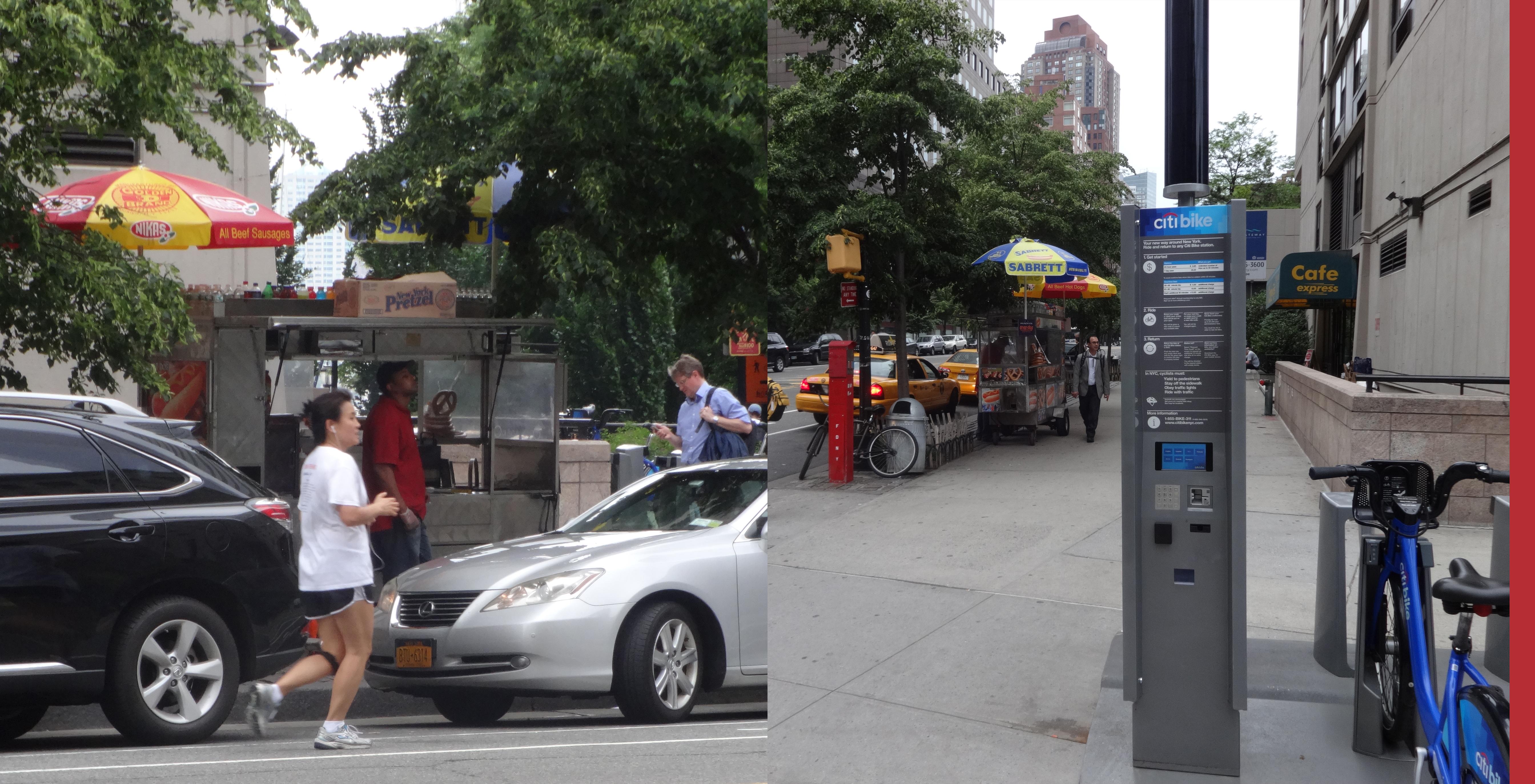 Hot dog vendor at Liberty and South End