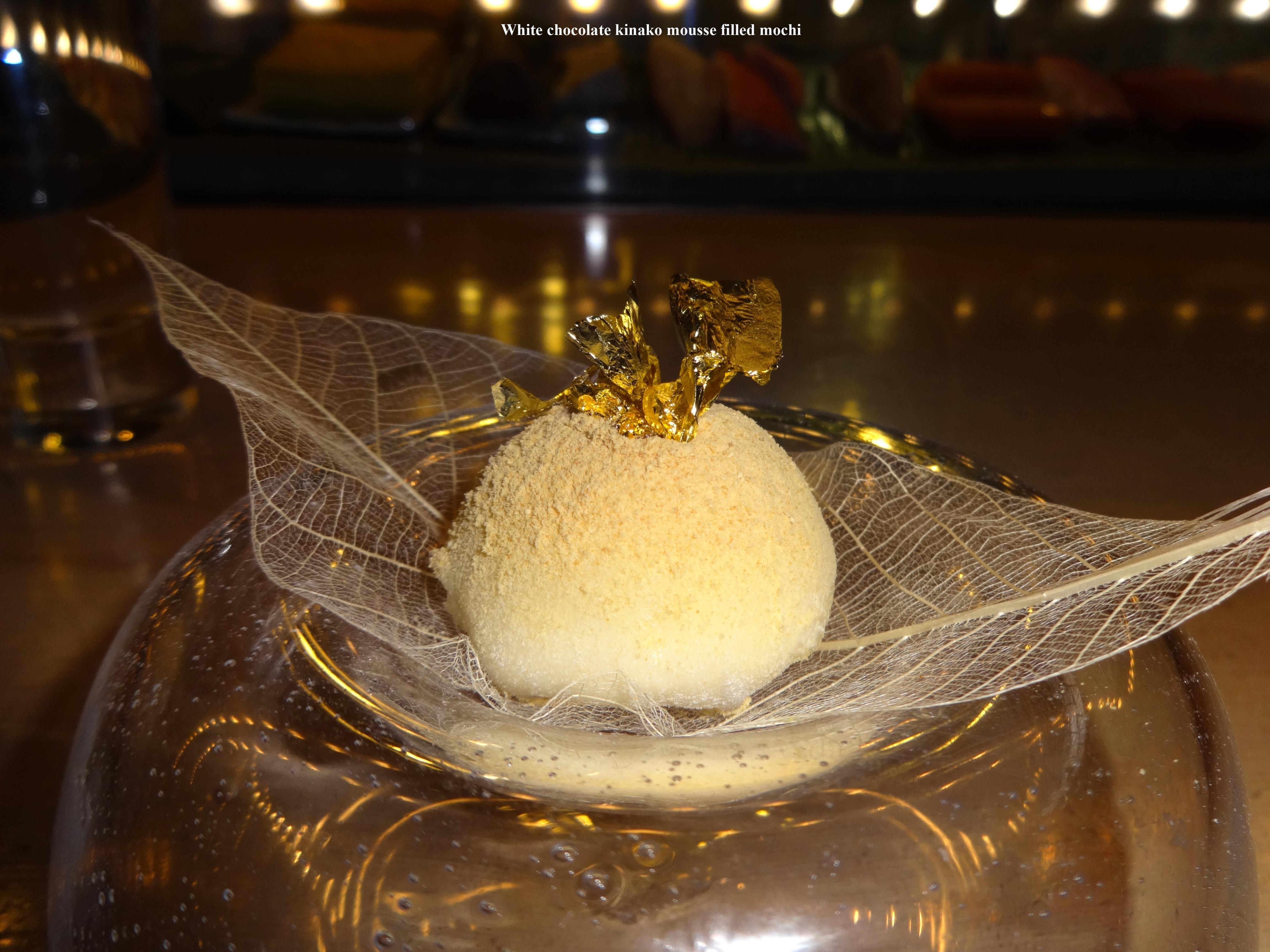 Morimoto dessert with gold